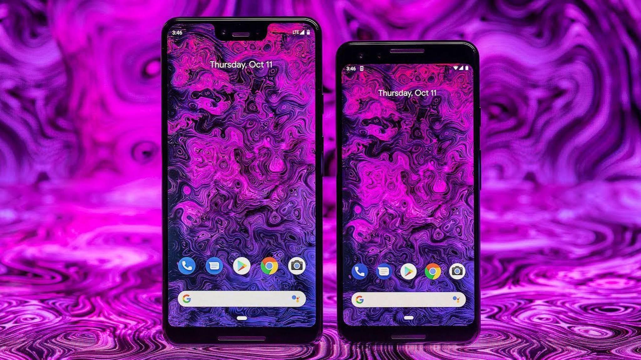 Samsung beim großen, LG beim kleinen Modell: Die Displays der neuen Pixel-Phones stammen von verschiedenen Herstellern.