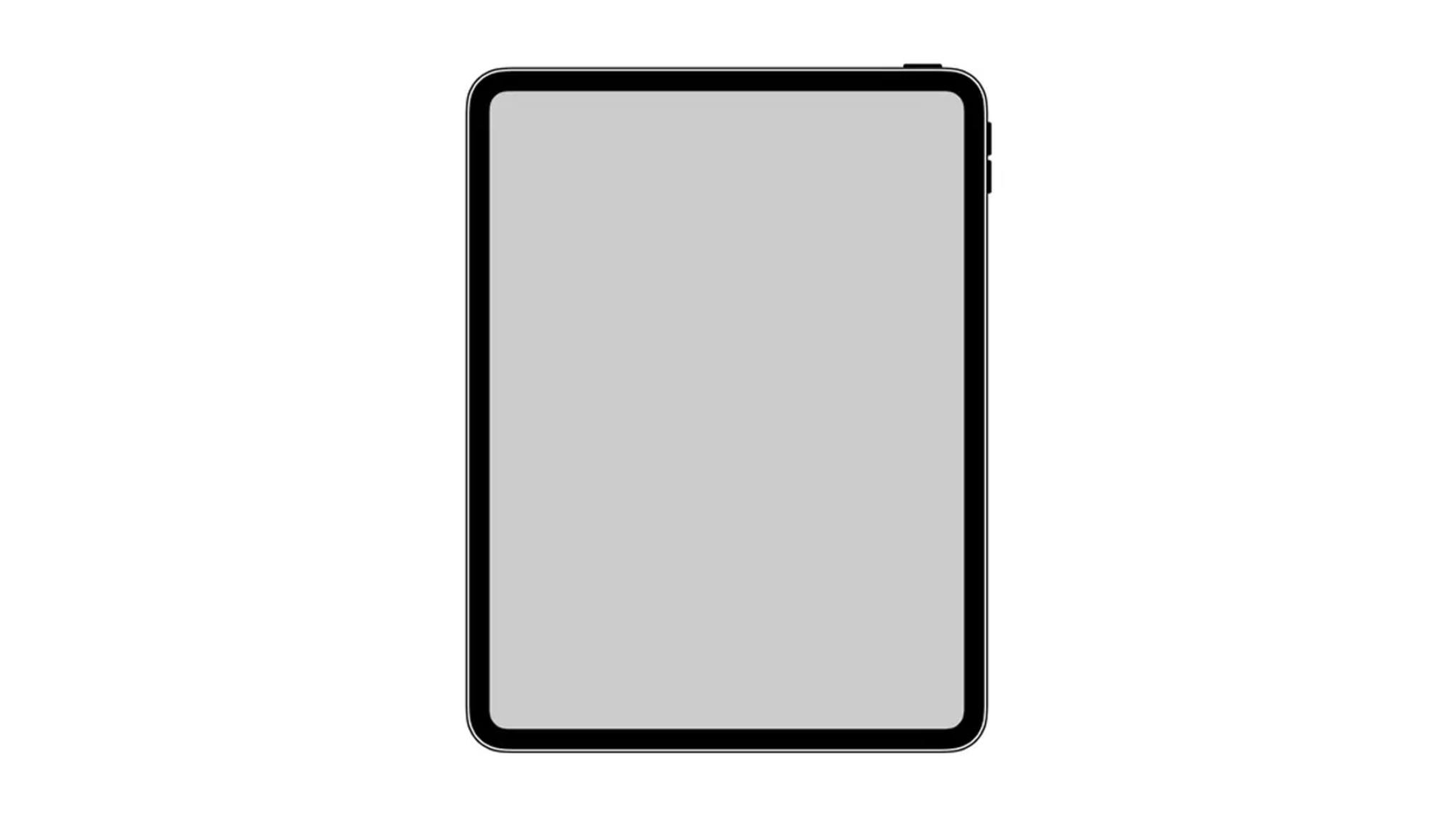 Kein Home-Button, keine Notch: So soll das neue iPad Pro aussehen.