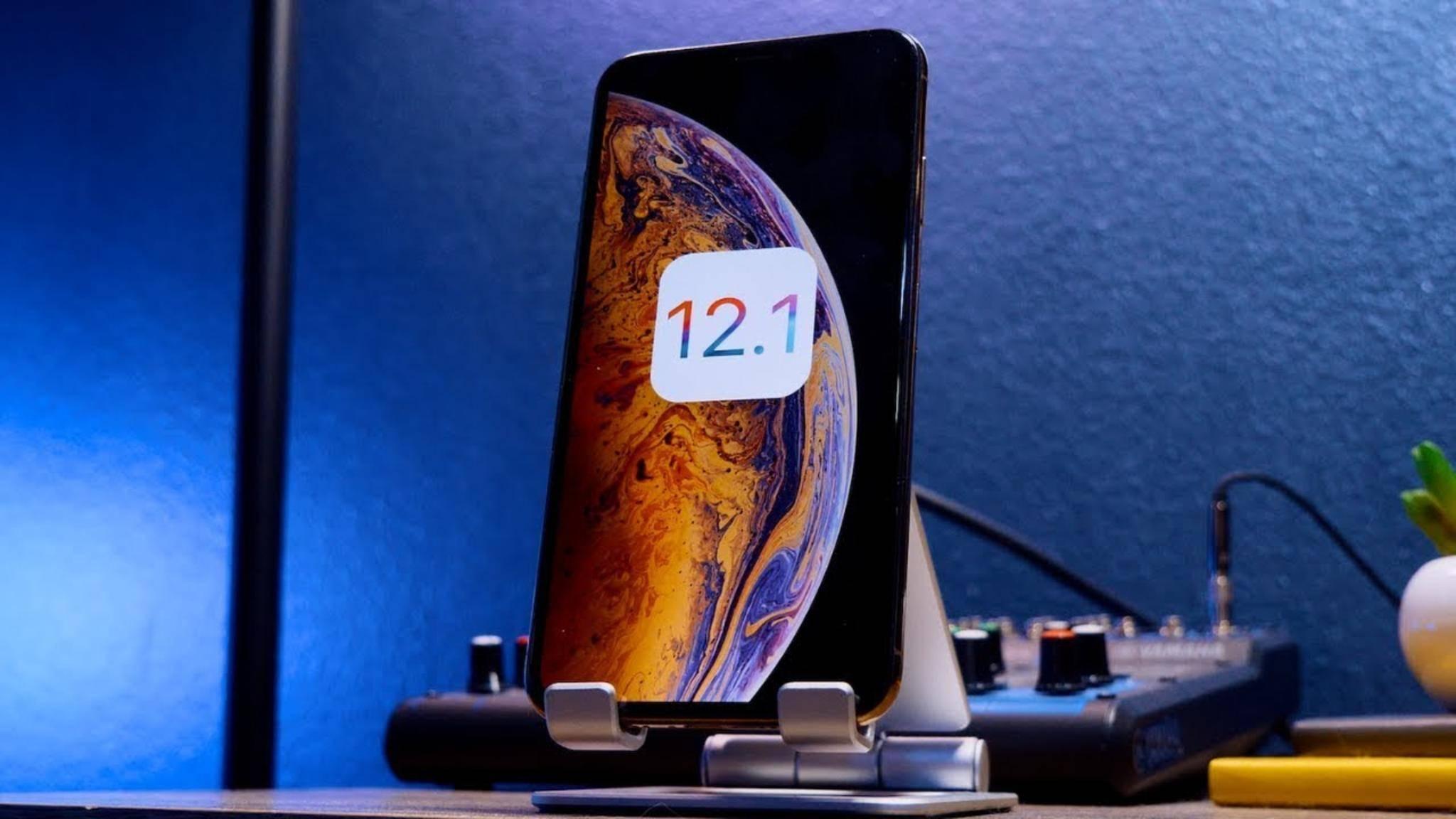 Ein Downgrade auf iOS 12.1 ist ab sofort nicht mehr möglich, da die Version nicht mehr signiert wird.