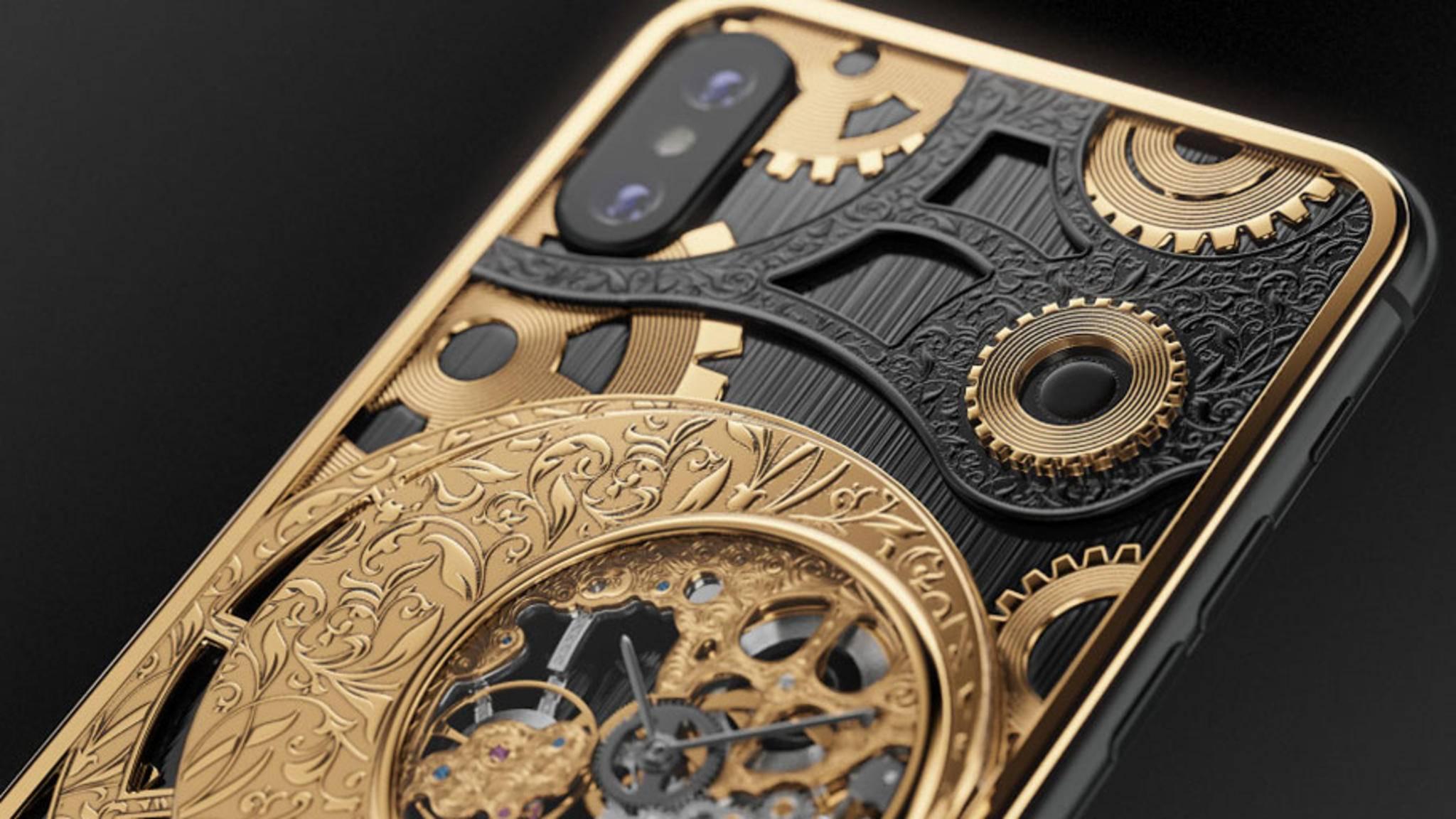 Viel Bling-Bling, aber auch echte Technik für Uhren-Liebhaber: Ein russischer Hersteller bietet das iPhone XS in einer Luxus-Edition an.