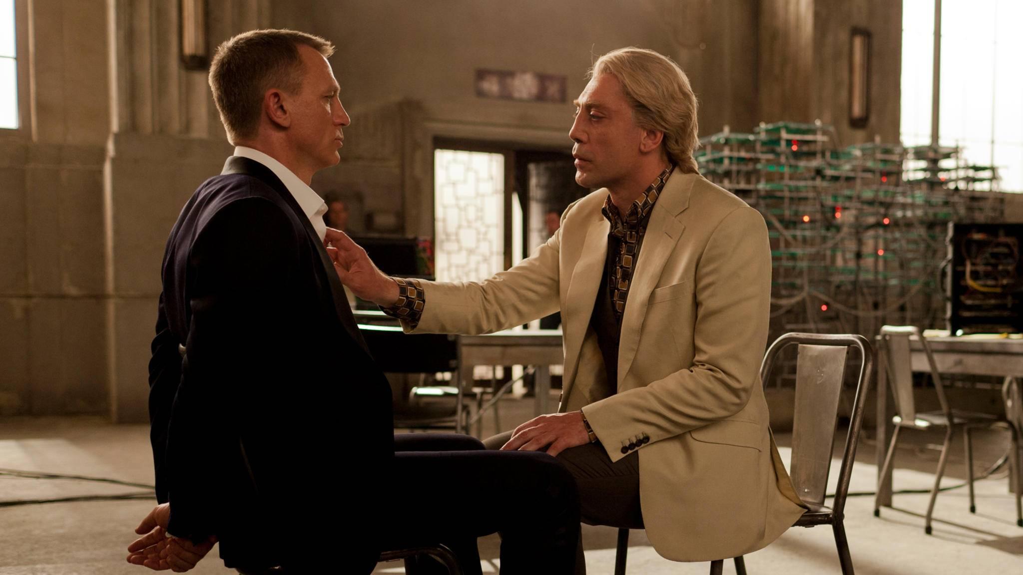 Raoul Silva (Javier Bardem, rechts) gehört zu den eindrucksvollsten Bond-Bösewichten.