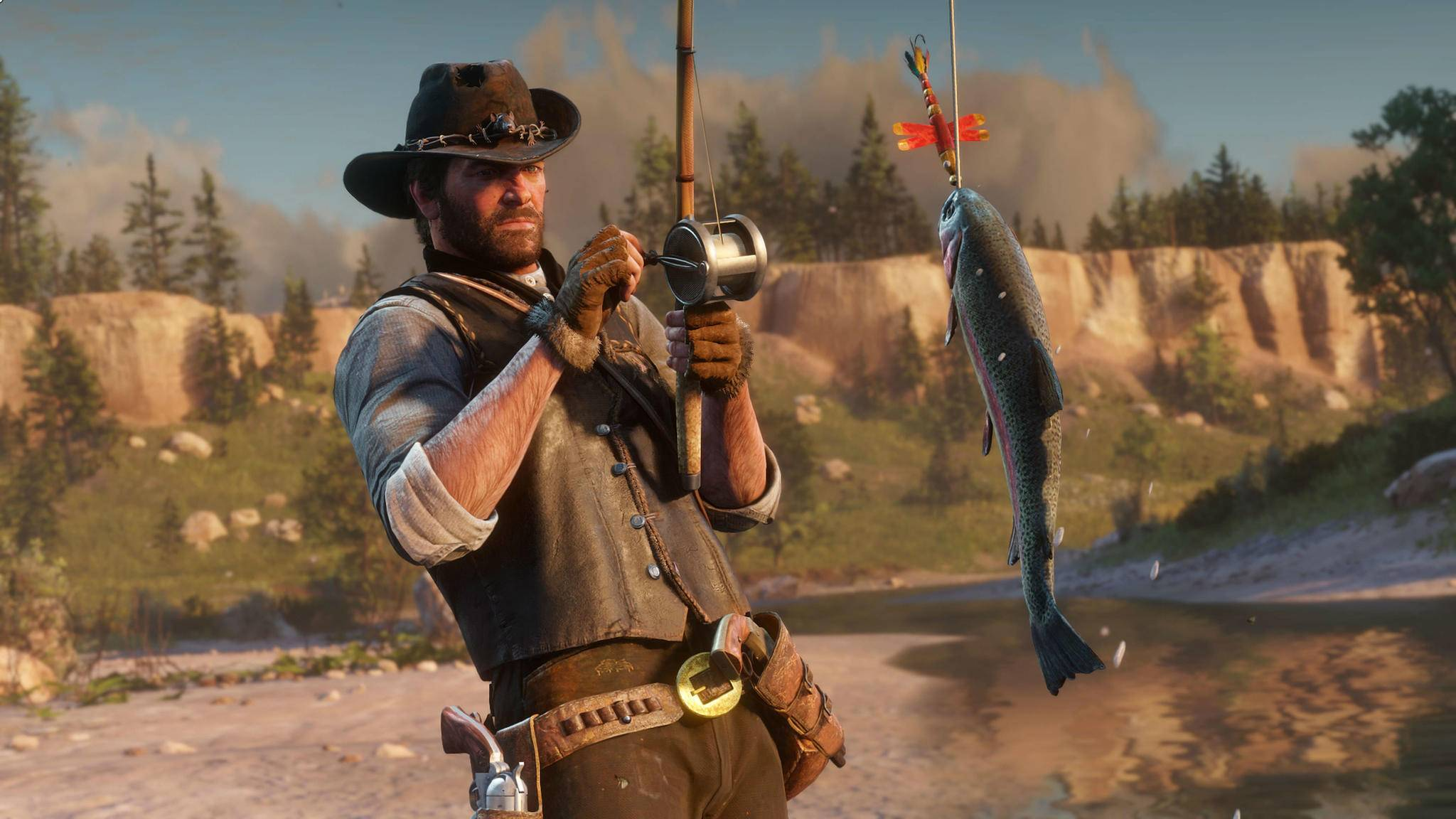 """Als Meisterangler kommst Du leichter an die Platin-Trophäe in """"Red Dead Redemption 2"""" – aber das reicht nicht."""