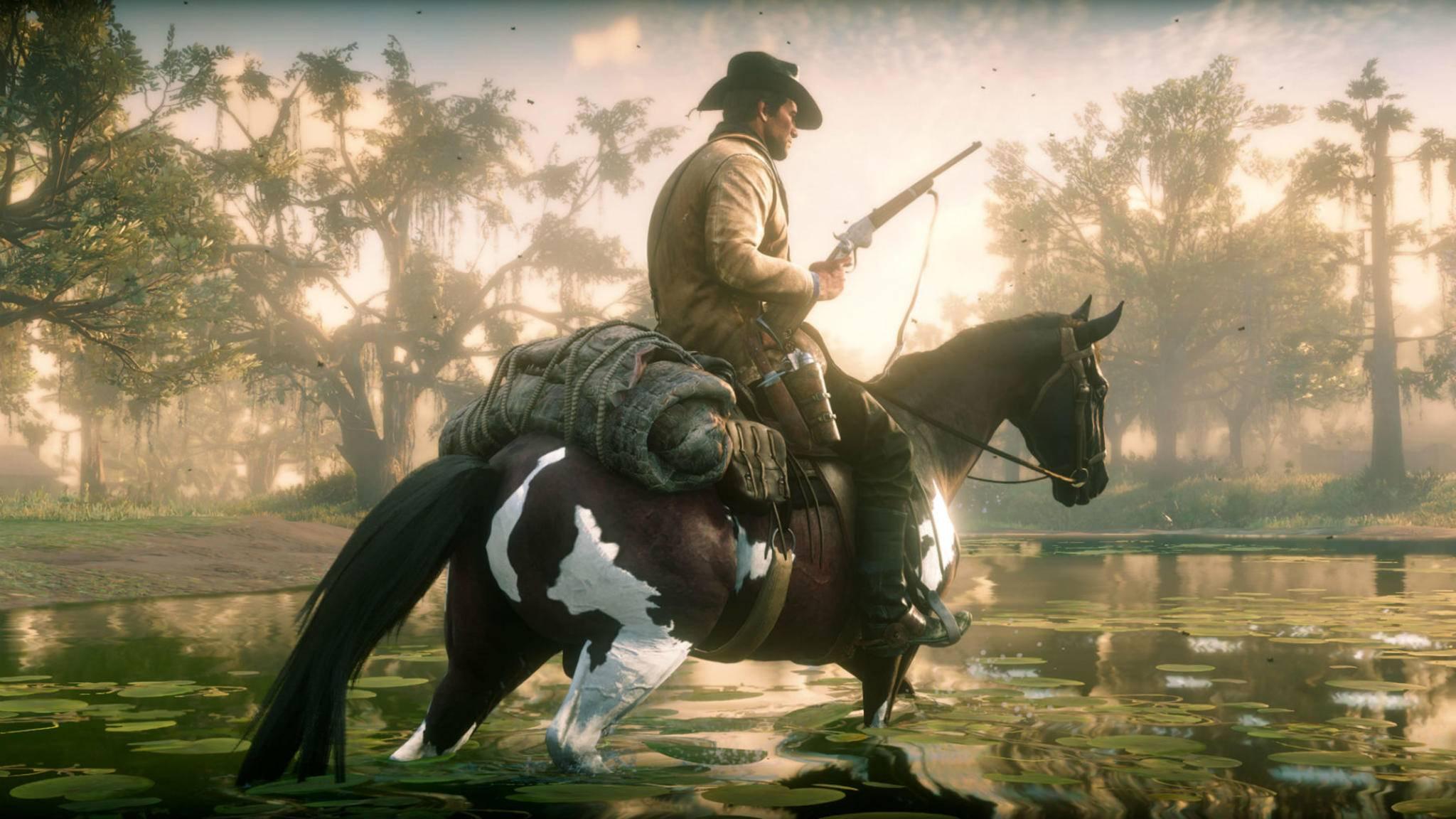 """""""Red Dead Redemption 2"""": Auch ohne Minimap bekommt man im Spiel Wegbeschreibungen."""