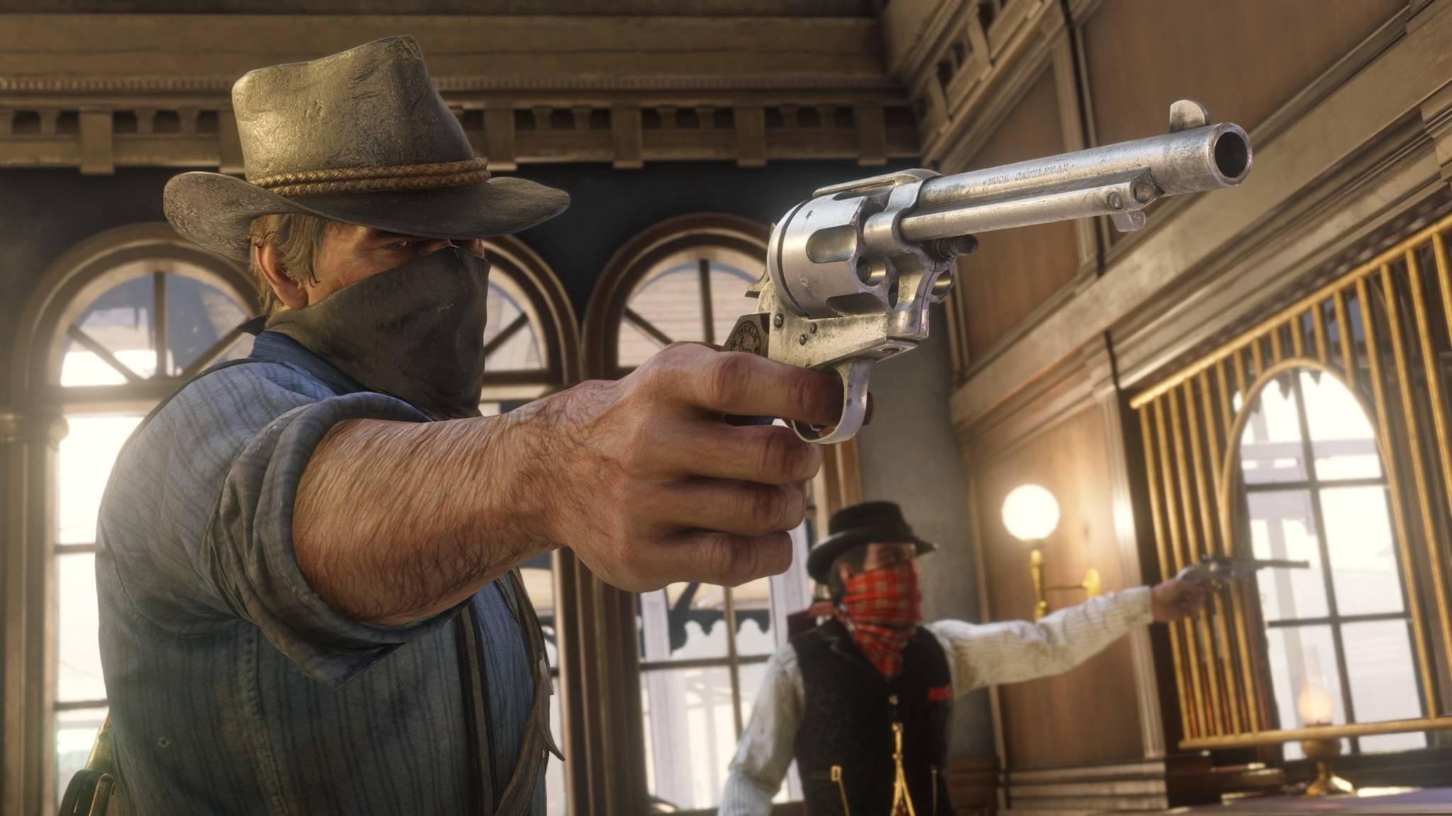 """So ein Bankraub lohnt sich, klar. Aber es gibt noch bessere Methoden, um in """"Red Dead Redemption 2"""" reich zu werden!"""