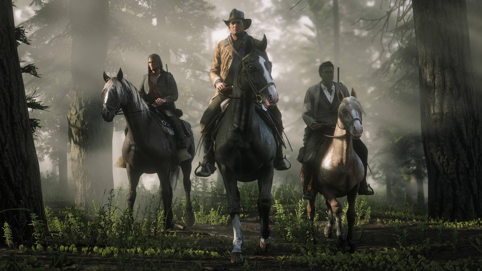 """Grafikgranaten wie """"Red Dead Redemption 2"""" bräuchten mit hochgerechneten Texturen deutlich weniger Speicherplatz."""