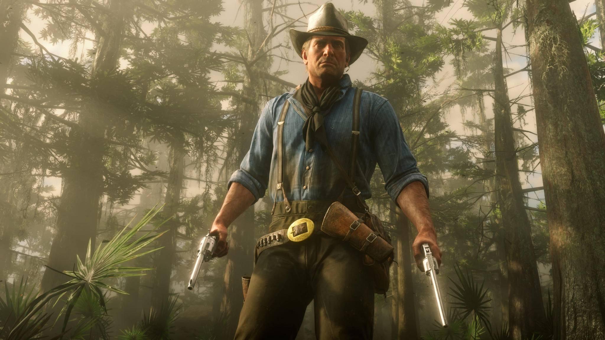 """Ballern wie Arthur: So nutzt Du in """"Red Dead Online"""" zwei Pistolen gleichzeitig."""