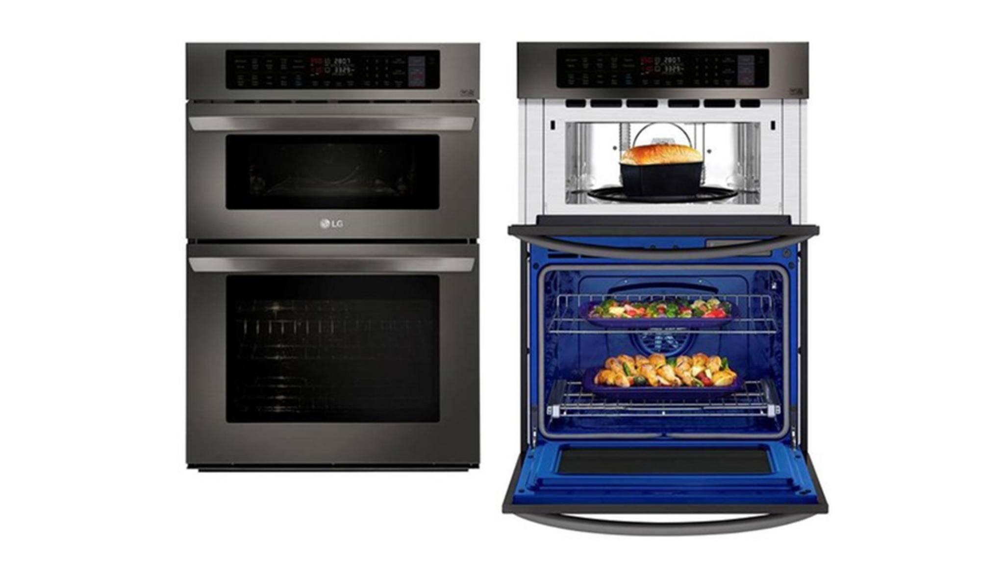 Zwei in einem: LGs Kombibacköfen beinhalten zwei Kocheinheiten.