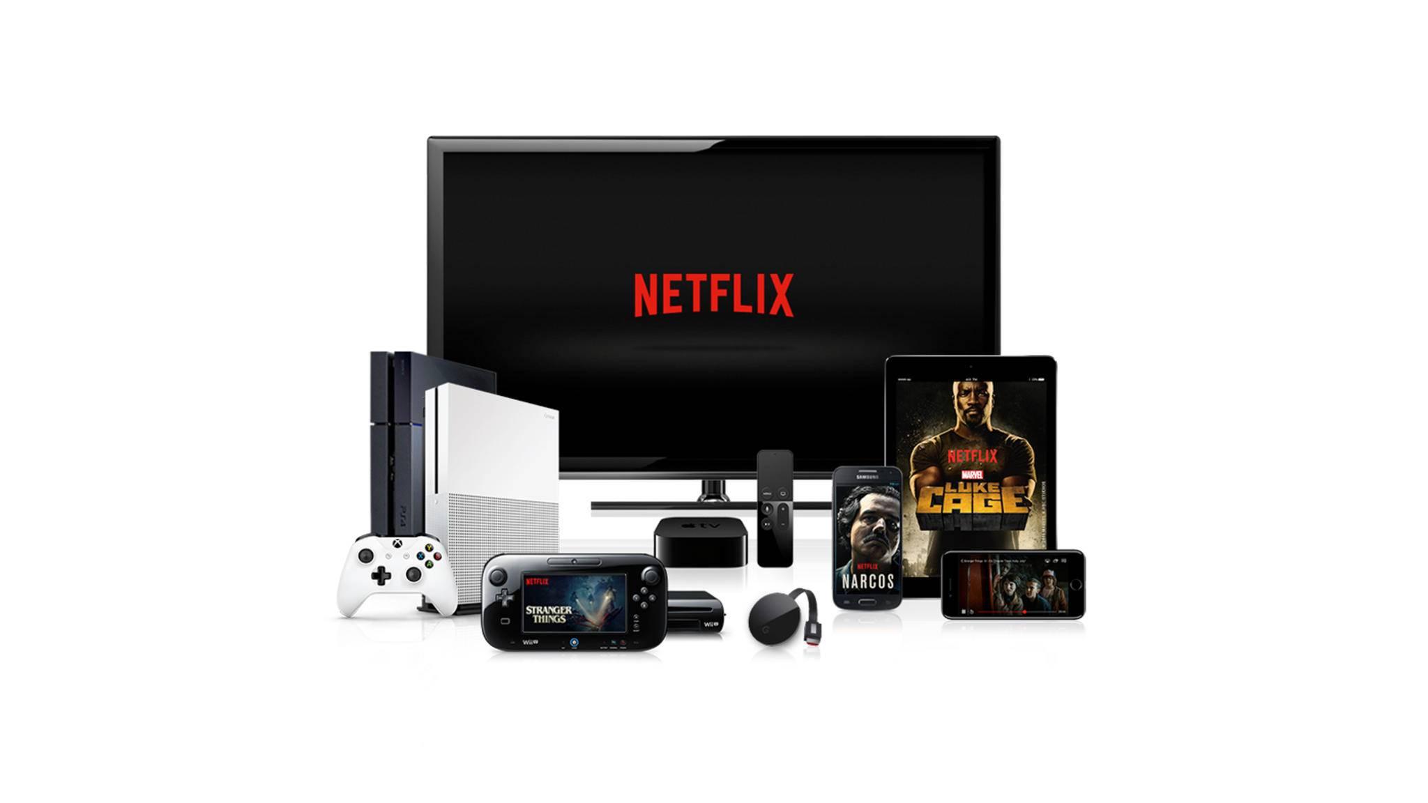 Netflix kannst Du auf so vielen Geräten wie Du willst installieren.