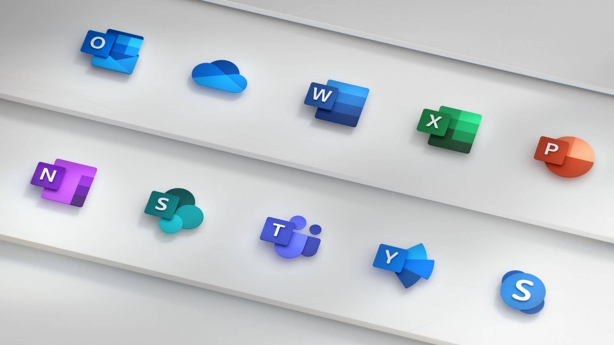 Die neuen Icons für Microsoft Office.