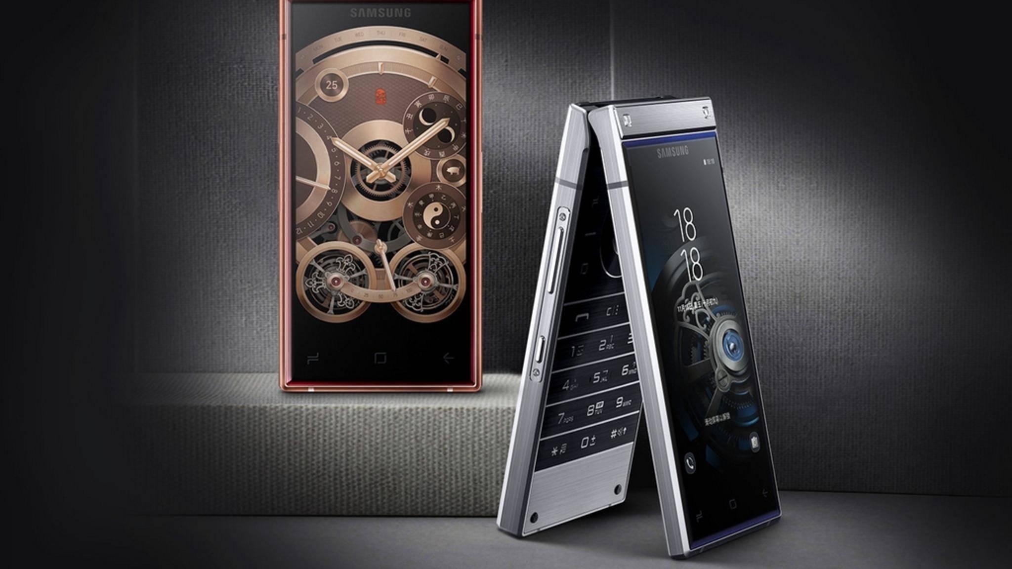 Das Samsung W2019 ist Klapphandy und High-End-Phone in einem Gerät.