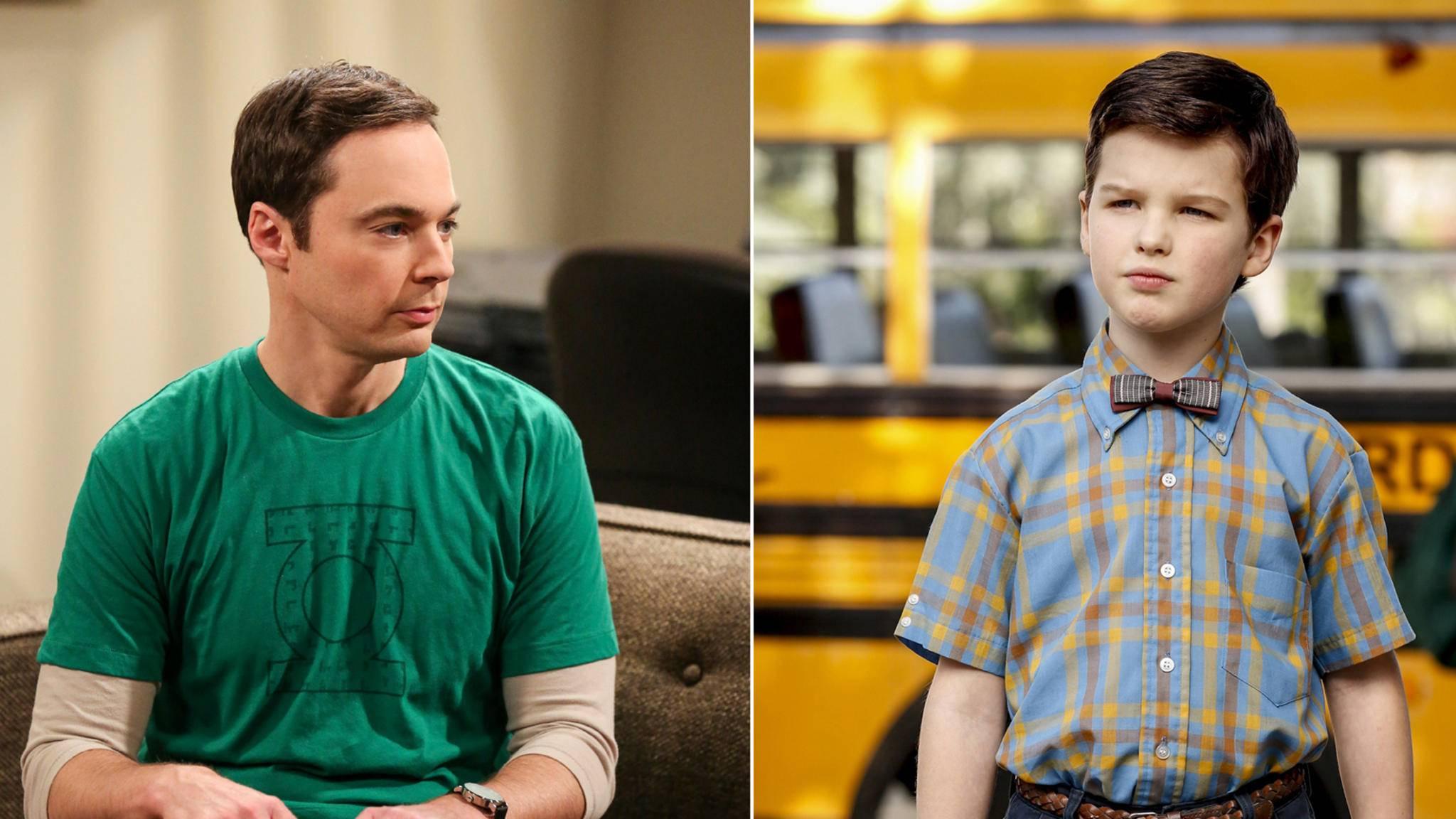 Alt trifft jung: Wird der erwachsene Sheldon (Jim Parsons) tatsächlich seiner jüngeren Version (Iain Armitage) begegnen?