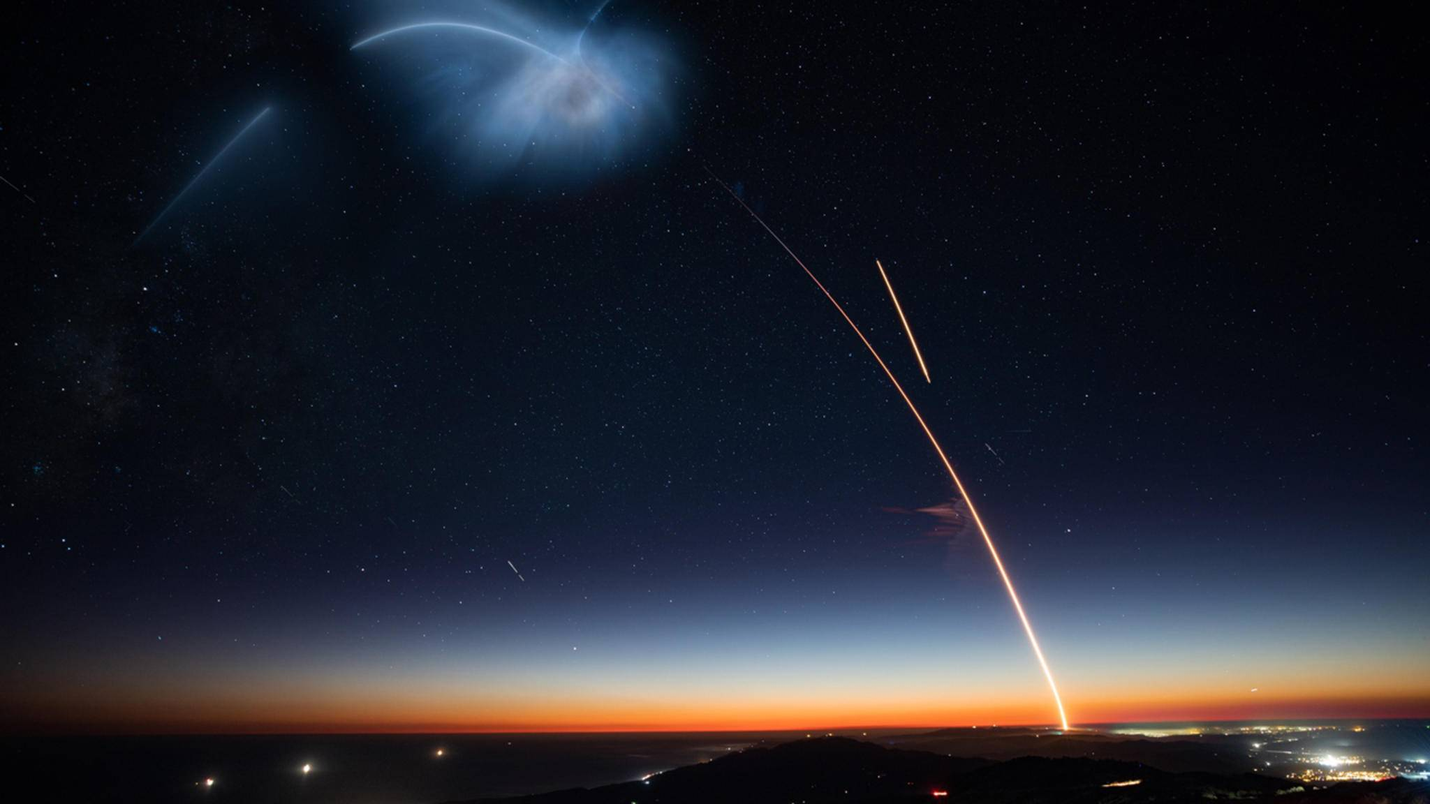 SpaceX will insgesamt fast 12.000 Starlink-Satelliten ins All schicken.