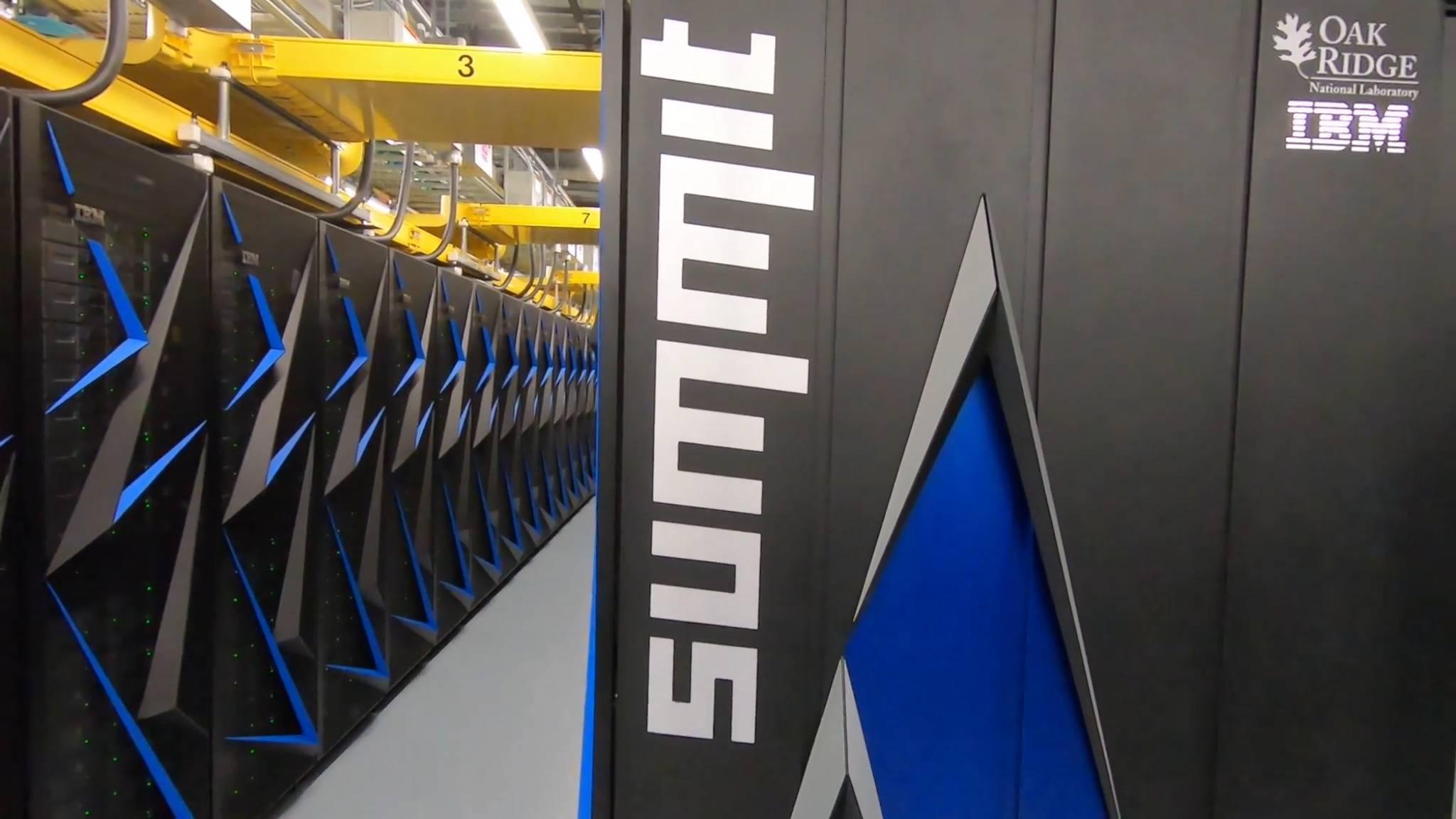 Der Summit-Computer des Oak Ridge National Laboratory ist der schnellste Rechner der Welt.