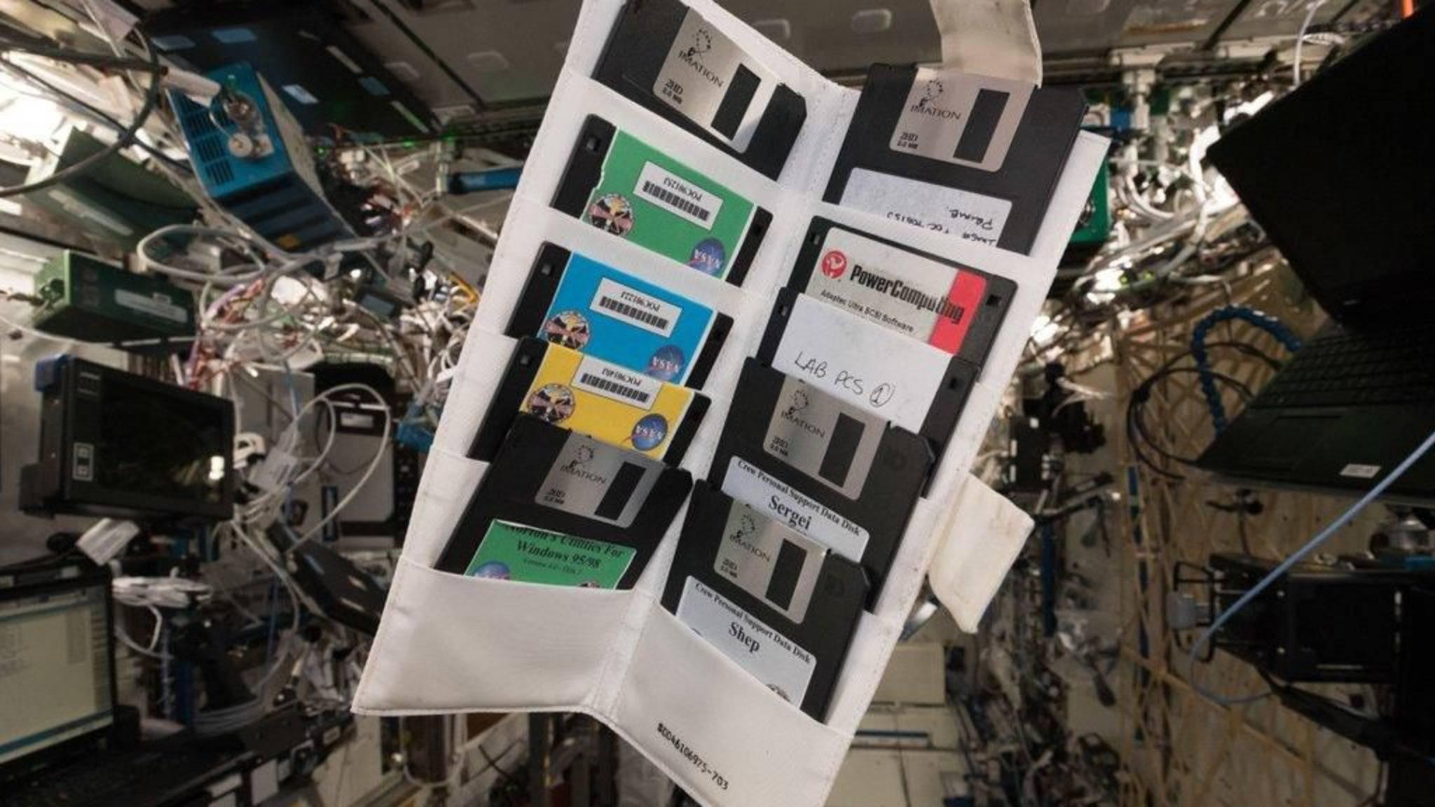Windows 95 wurde auf der ISS konserviert.