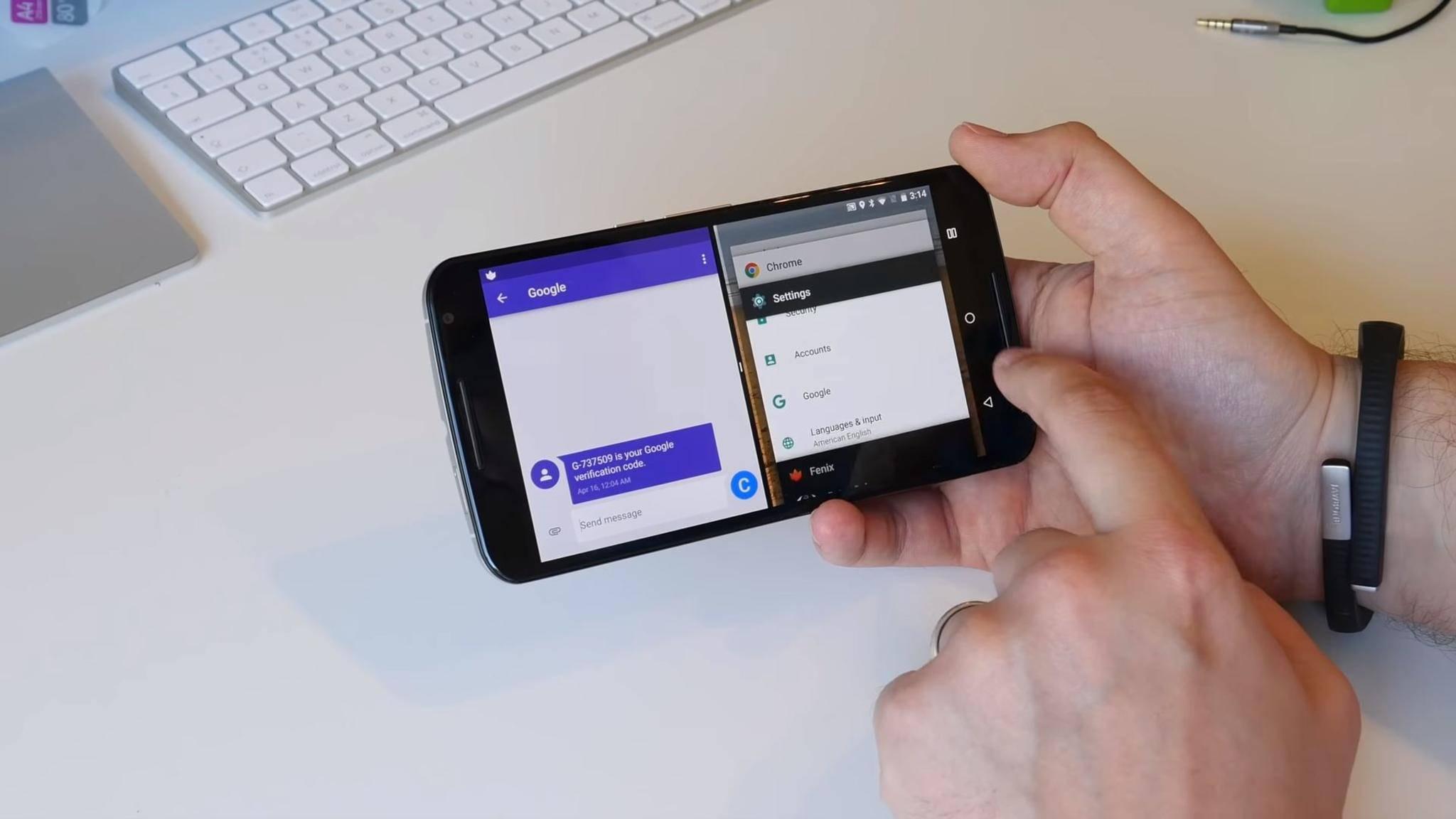 Momentan ist im Splitscreen immer nur eine App aktiv, das soll sich in Android Q ändern.