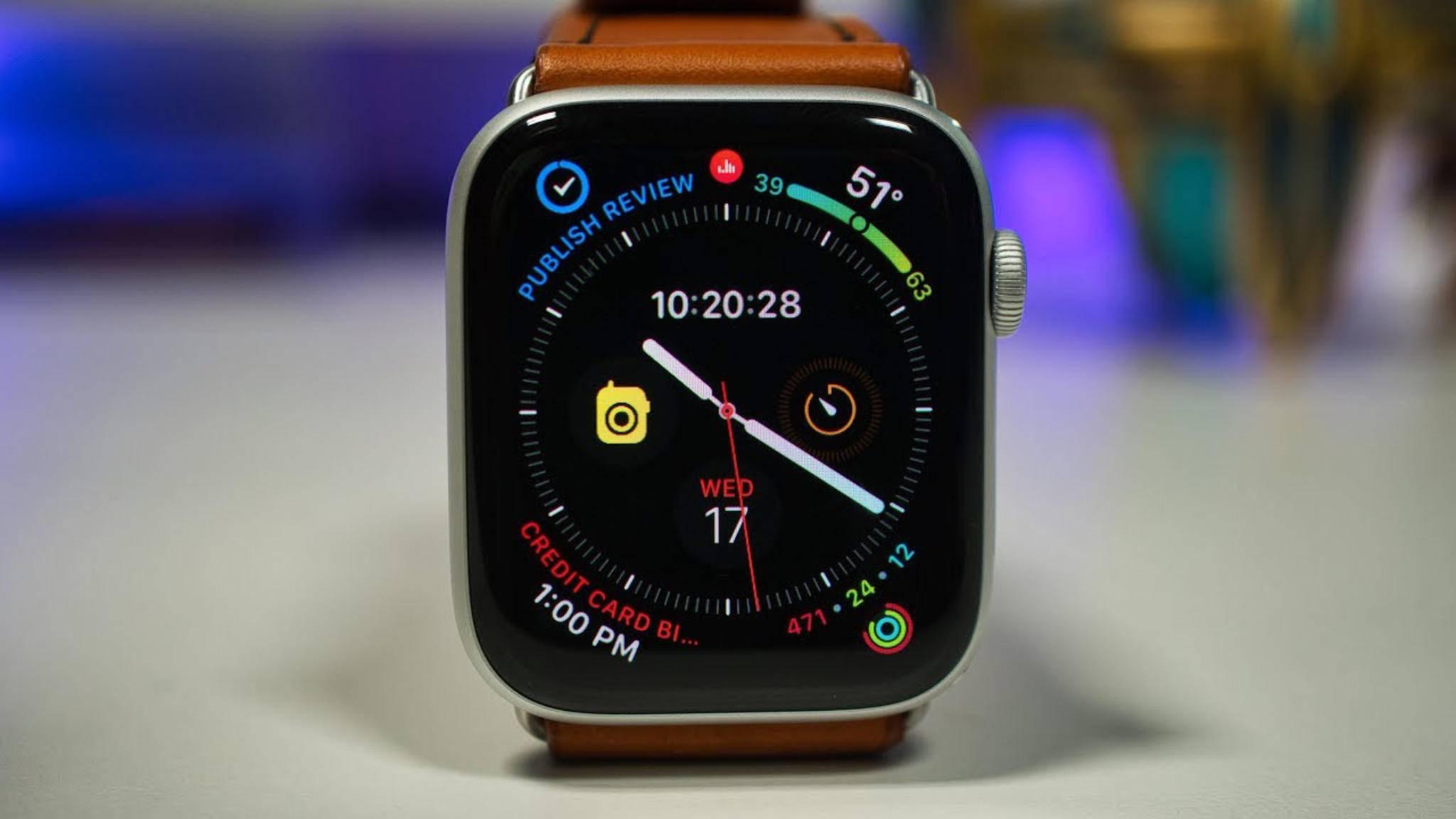 Eine Apple Watch bekam während des Wetterberichts im britischen Fernsehen unverhofft viel Aufmerksamkeit.