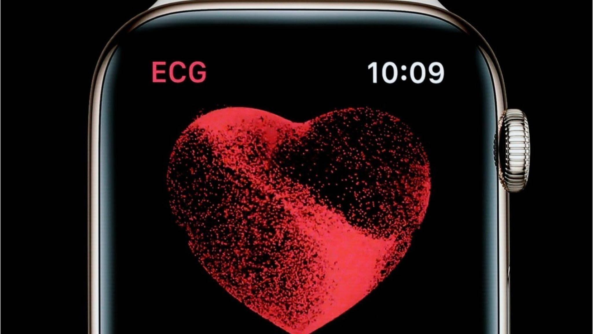 In den kommenden Wochen will Apple das EKG-Feature nachreichen.