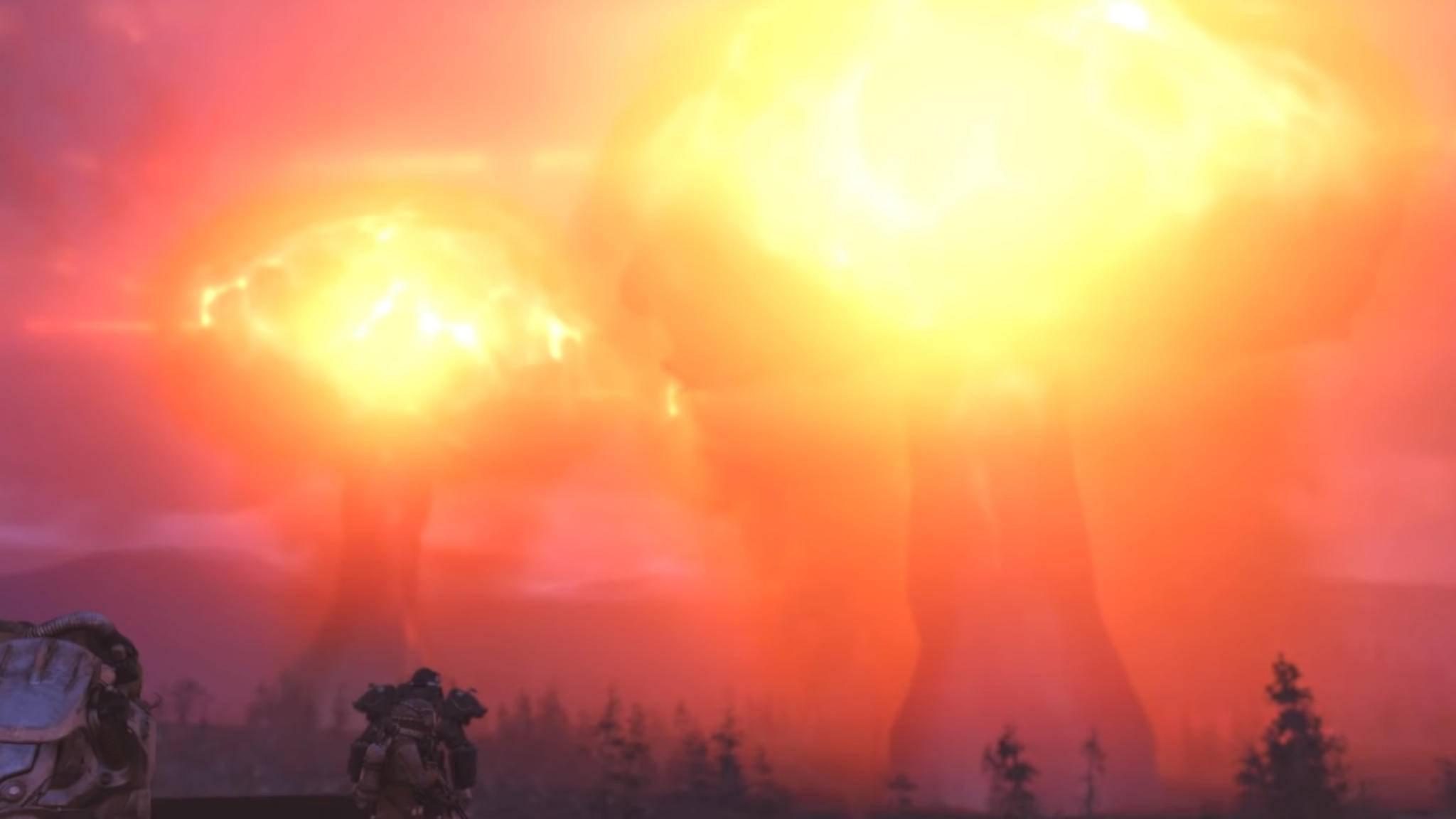 """Es knallt und knallt und knallt: Bethesda hat mit """"Fallout 76"""" derzeit eine Menge Ärger."""
