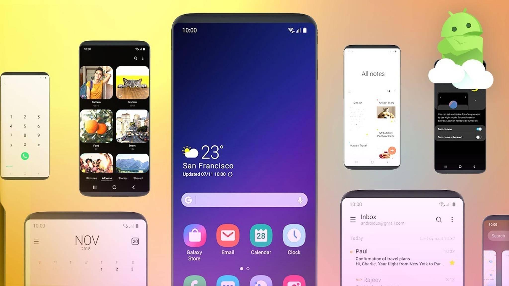 Android 9.0 Pie bringt etwa auch die Oberfläche One UI auf das Galaxy S9.