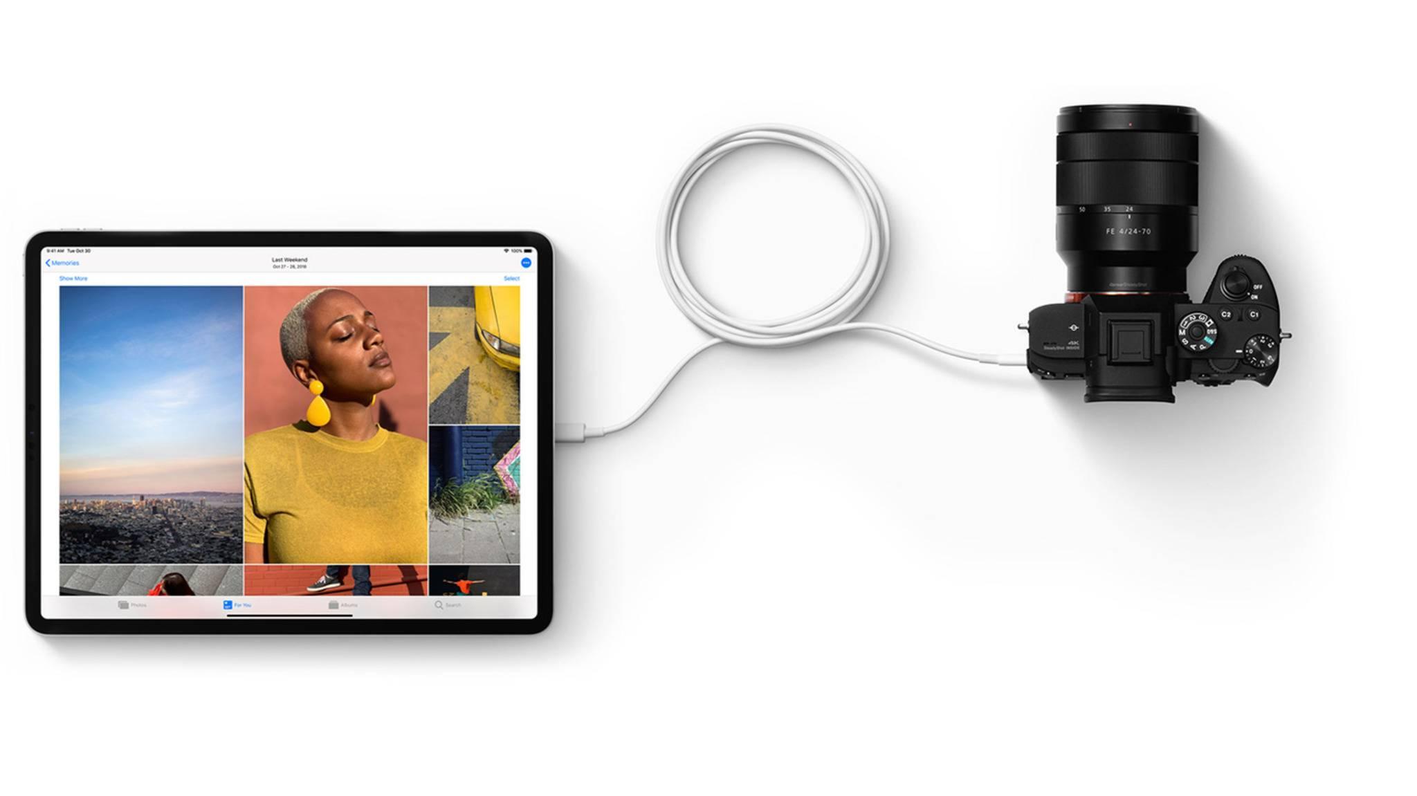 Das iPad Pro (2018) bietet eine USB-C- statt eine Lightning-Verbindung.