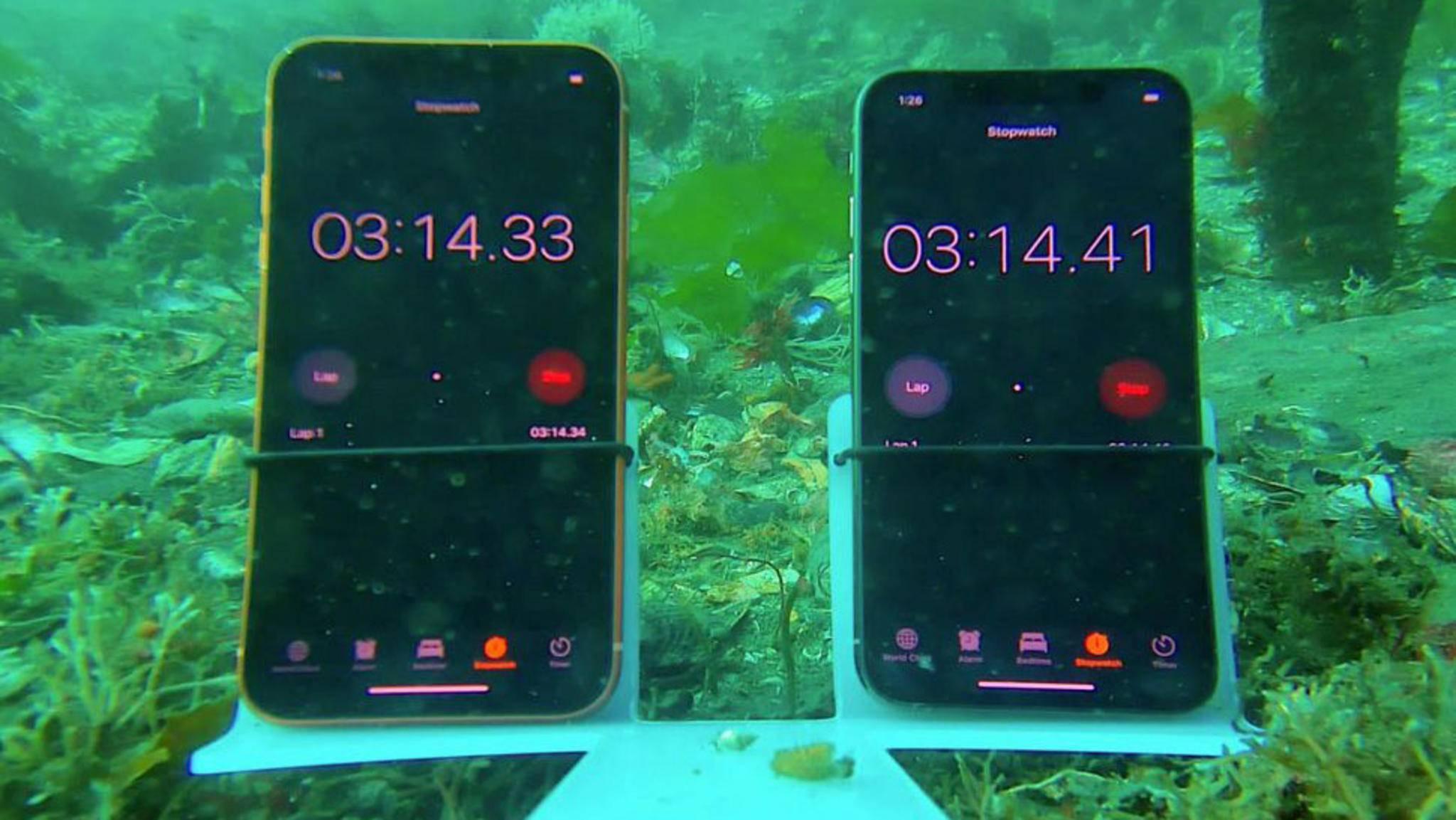 Wie gut schlagen sich die neuen iPhones tatsächlich unter Wasser?