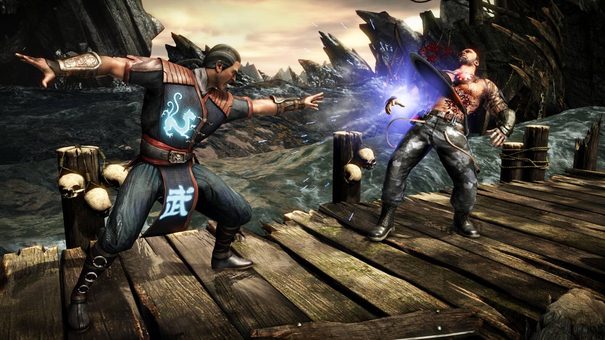 """Kung Lao (links) spricht in """"Mortal Kombat 11"""" anscheinend mit einer neuen Stimme – zumindest in der spanischen Version."""