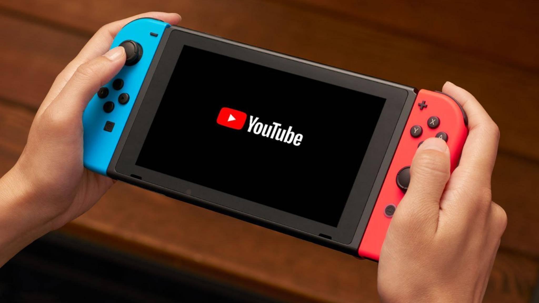 Läuft jetzt: YouTube auf Nintendo Switch.