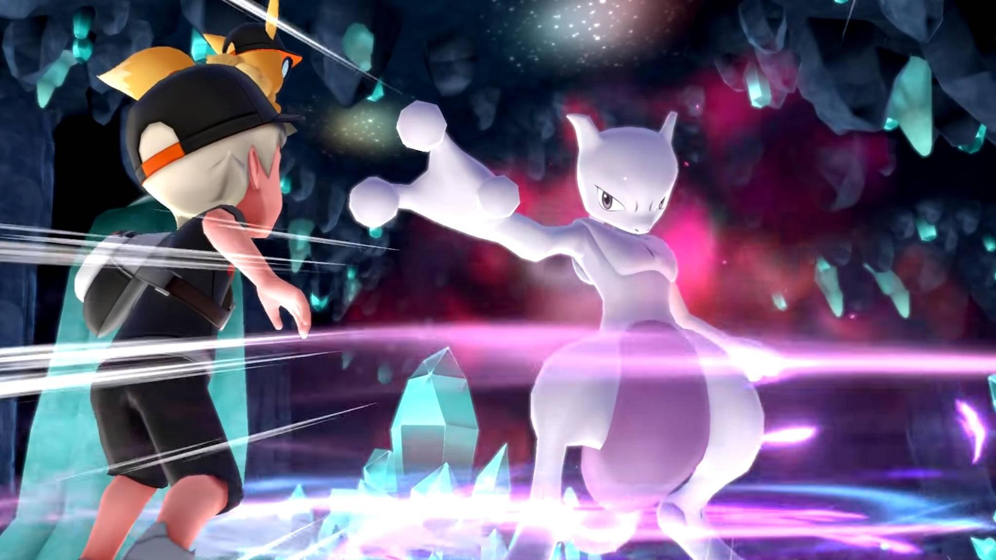 """In """"Pokémon Let's Go"""" kannst Du Mewtu fangen – aber leicht wird das nicht."""