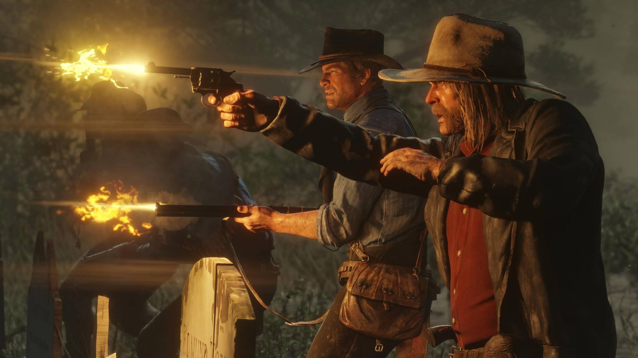"""Einer gegen alle, alle gegen einen, alle gegen alle: In """"Red Dead Online"""" herrscht herrlichstes Cowboy-Chaos."""