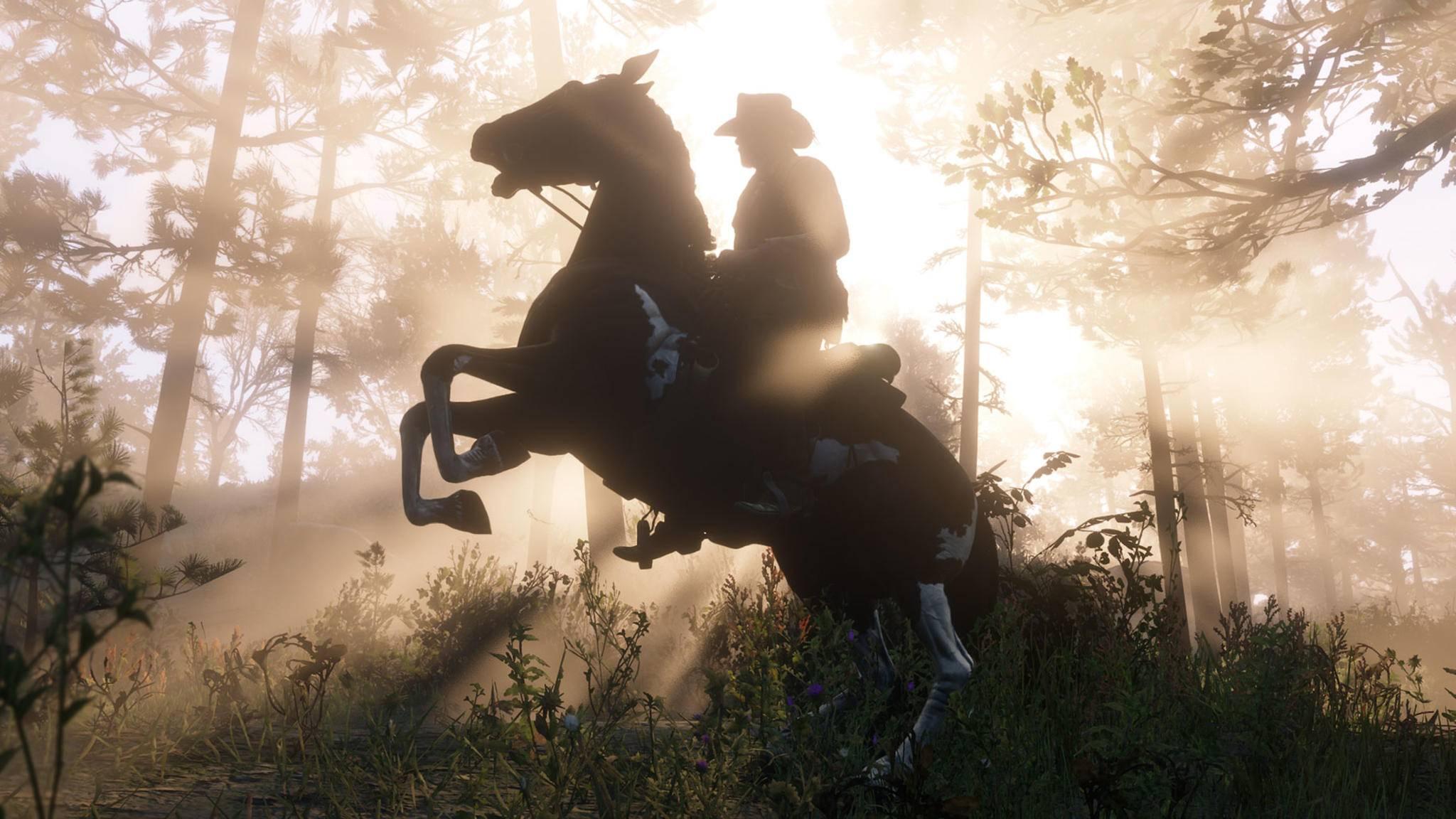 """Damit Du morgen noch kraftvoll zureiten kannst: Eine Pferdeversicherung macht sich in """"Red Dead Online"""" schnell bezahlt."""