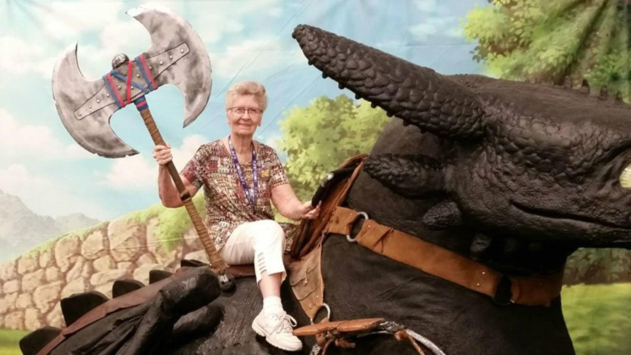 "Echtes Drachenblut: Gamerin Shirley Curry liebt ""Skyrim""."