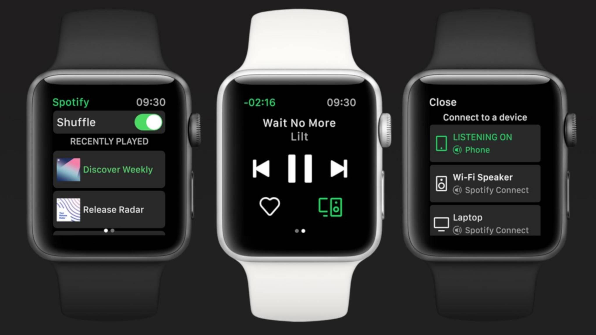 Spotify hat den Sprung auf die Apple Watch geschafft – leider aber bisher nur mit eingeschränkten Funktionen.