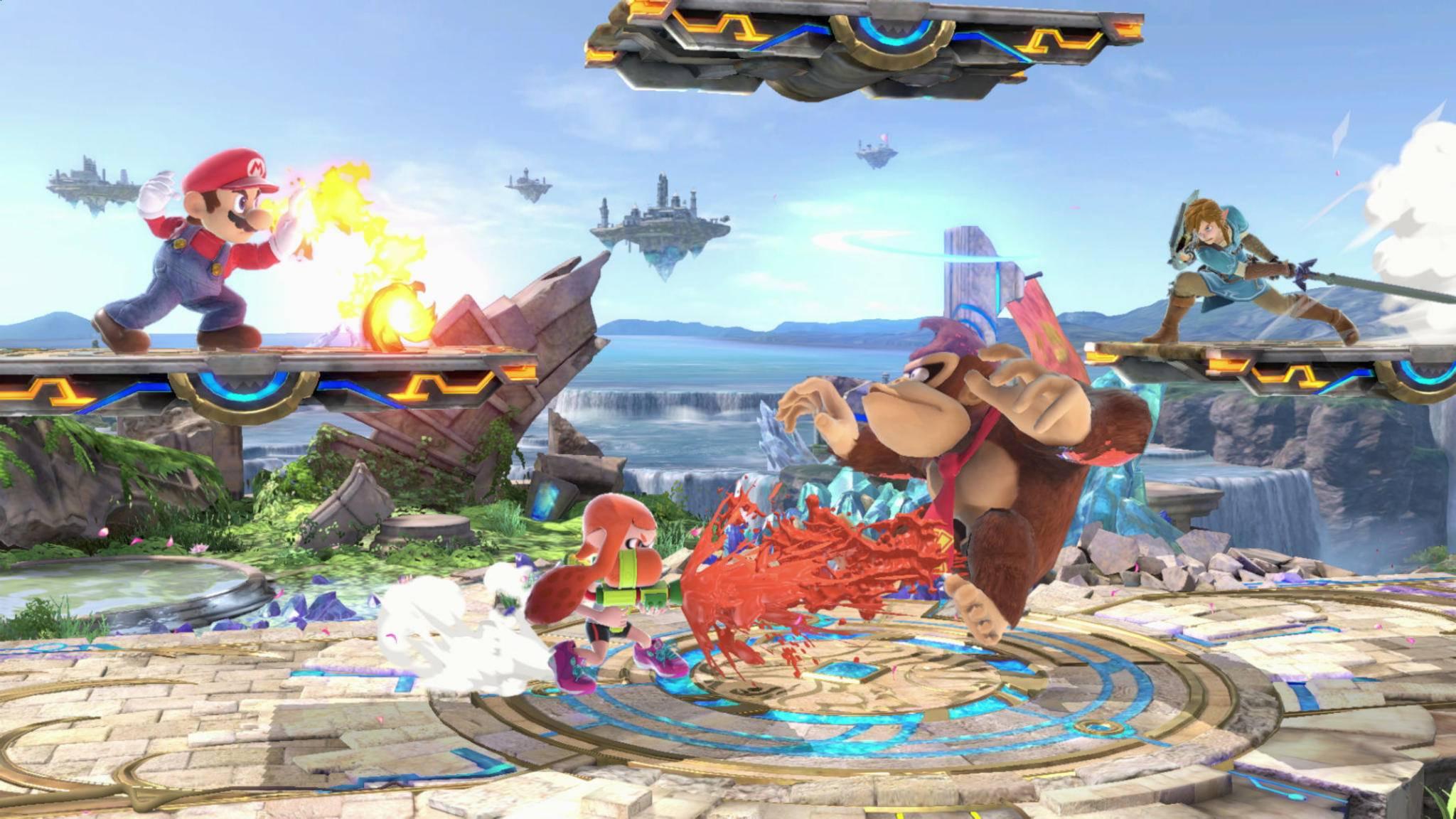 "In ""Super Smash Bros Ultimate"" treten diverse Charaktere gegeneinander an."