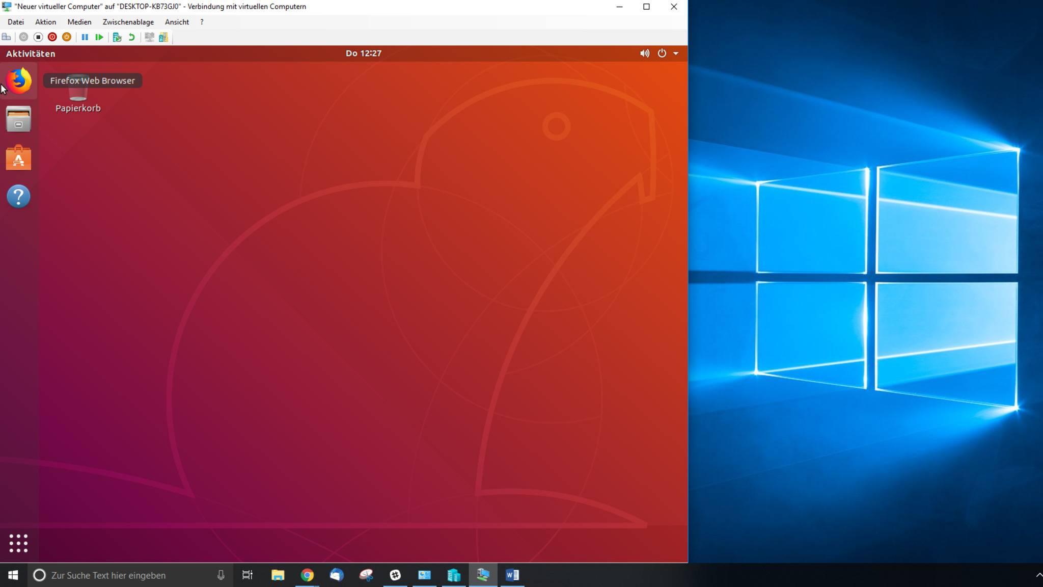 Ein voll funktionsfähiges Linux ist als virtuelle Maschine in Windows 10 einfach einzurichten.