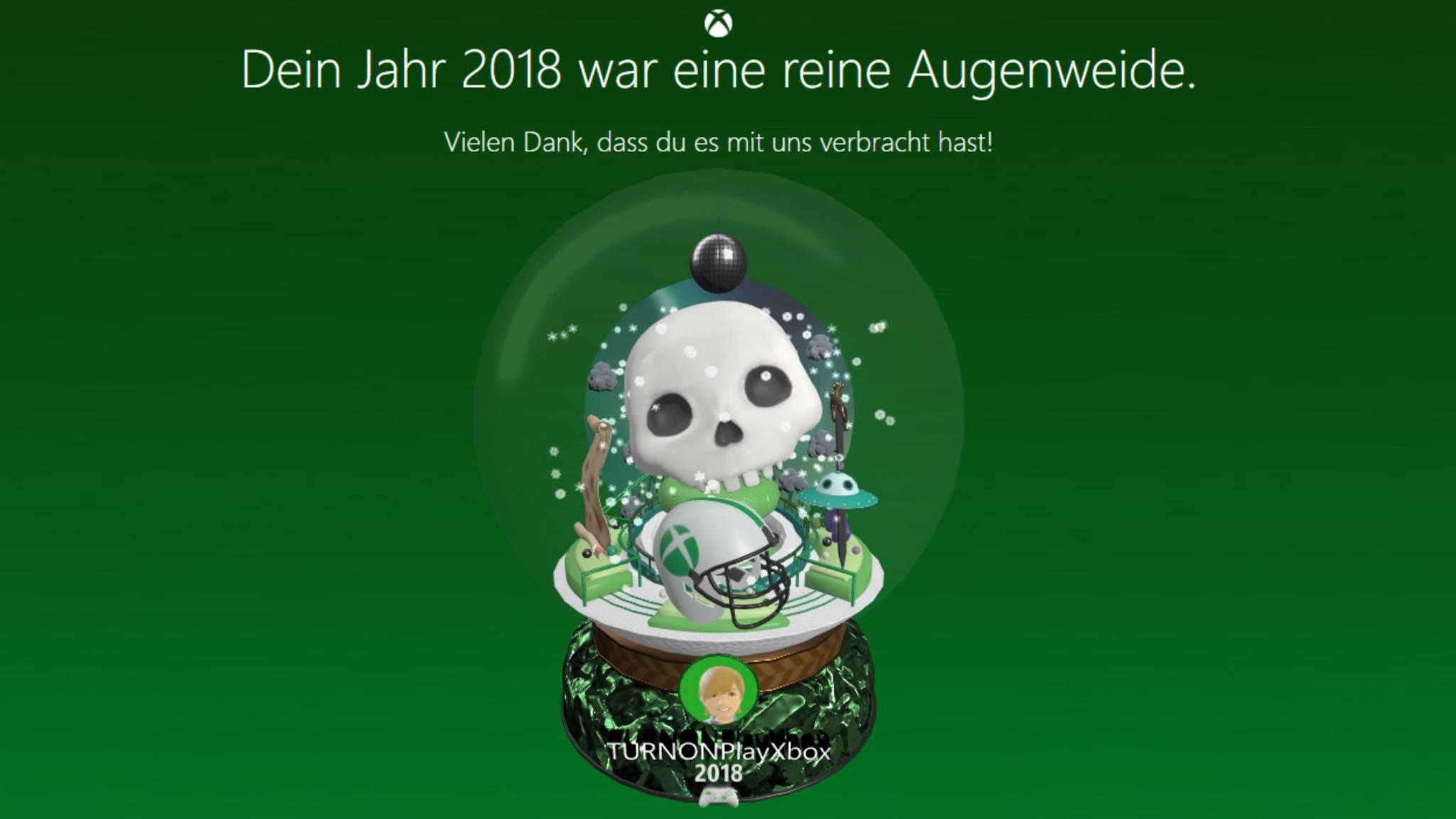 Wie war Dein Xbox-Jahr 2018? Microsoft zeigt es Dir.
