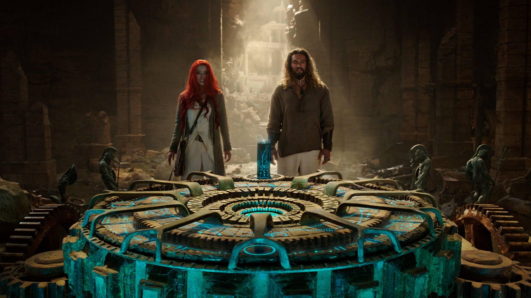 Ambear Heard und Jason Momoa in Aquaman