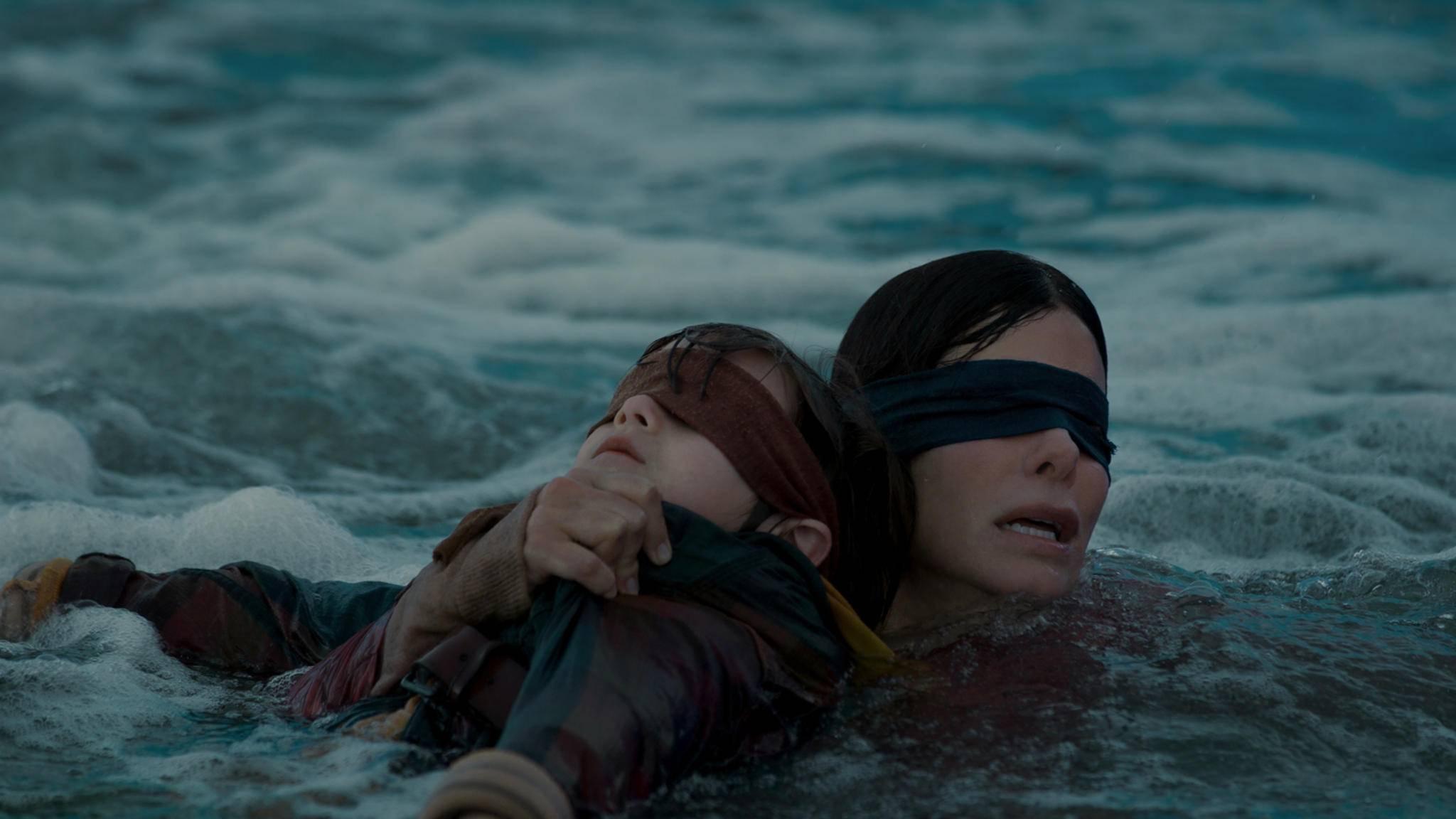 Im Blindflug geht's für Malorie und ihre Kinder den Fluss stromabwärts.