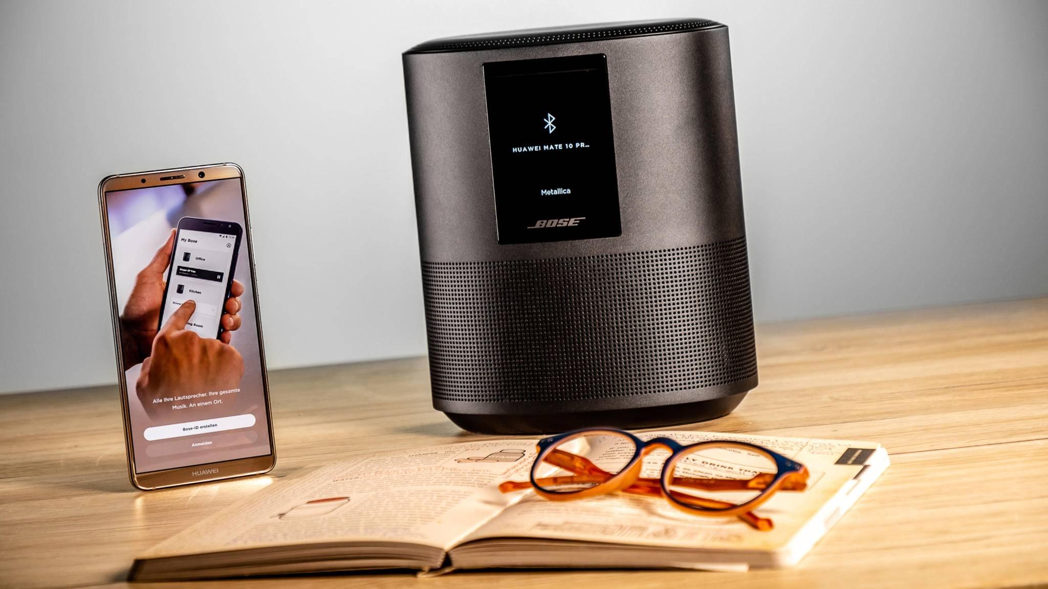 Der Bose Sound Speaker 500 unterstützt viele Streaming-Optionen.