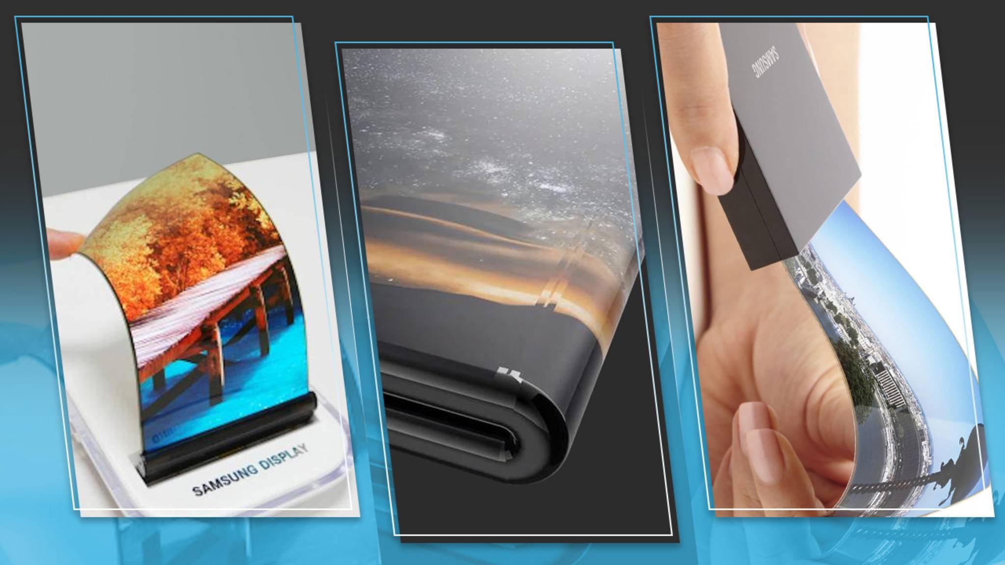 Erste faltbare Smartphones sollen 2019 auf den Markt kommen.