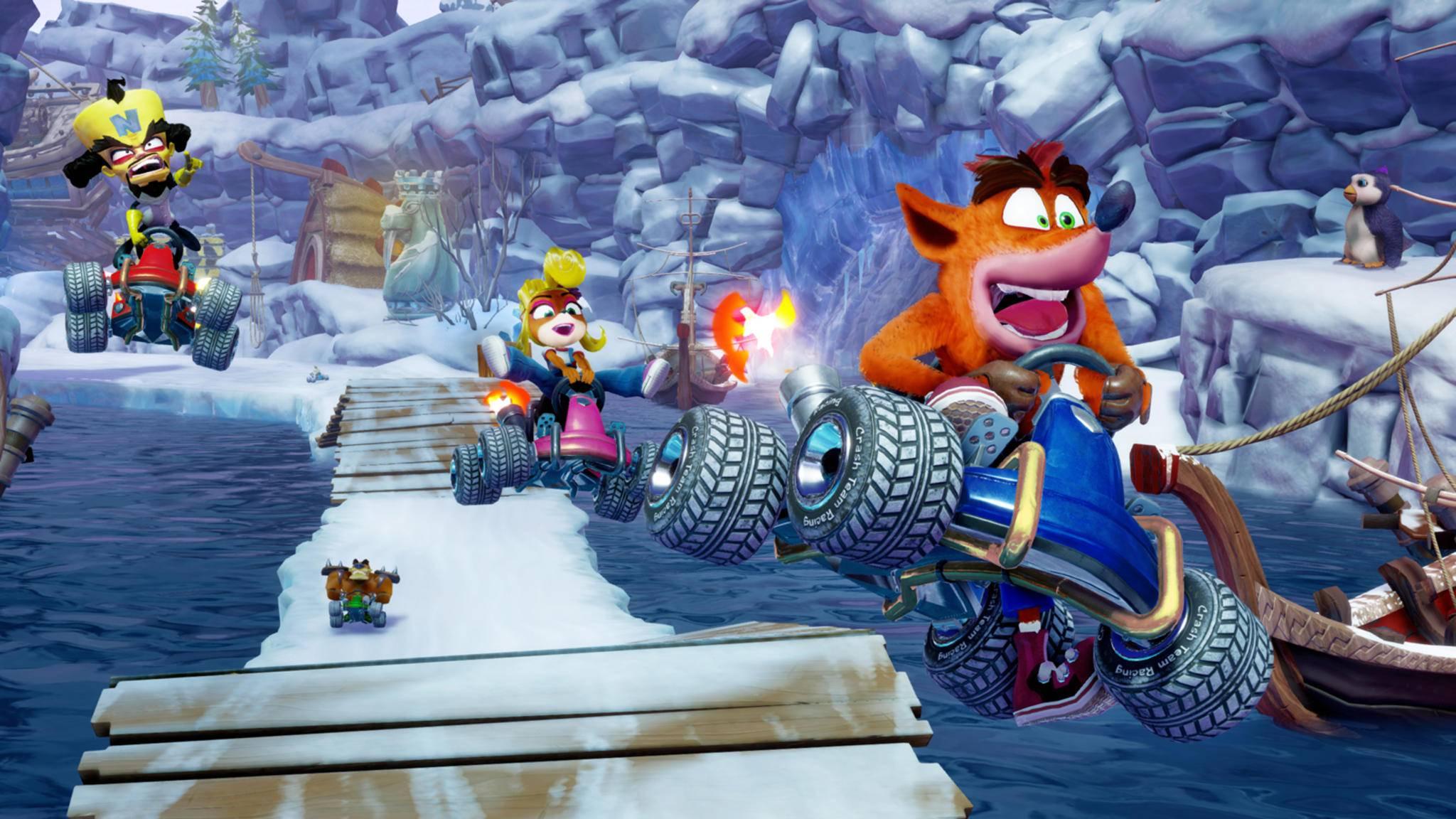 """Crash startet wieder durch – in """"Crash Team Racing Nitro-Fueled""""."""