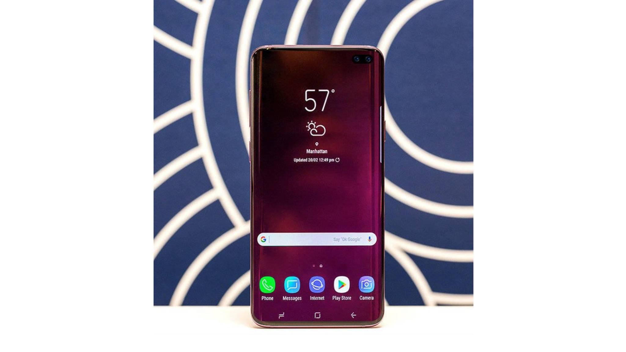 Das Galaxy S10 Plus soll mit Infinity-O-Display und Dual-Frontkamera erscheinen.