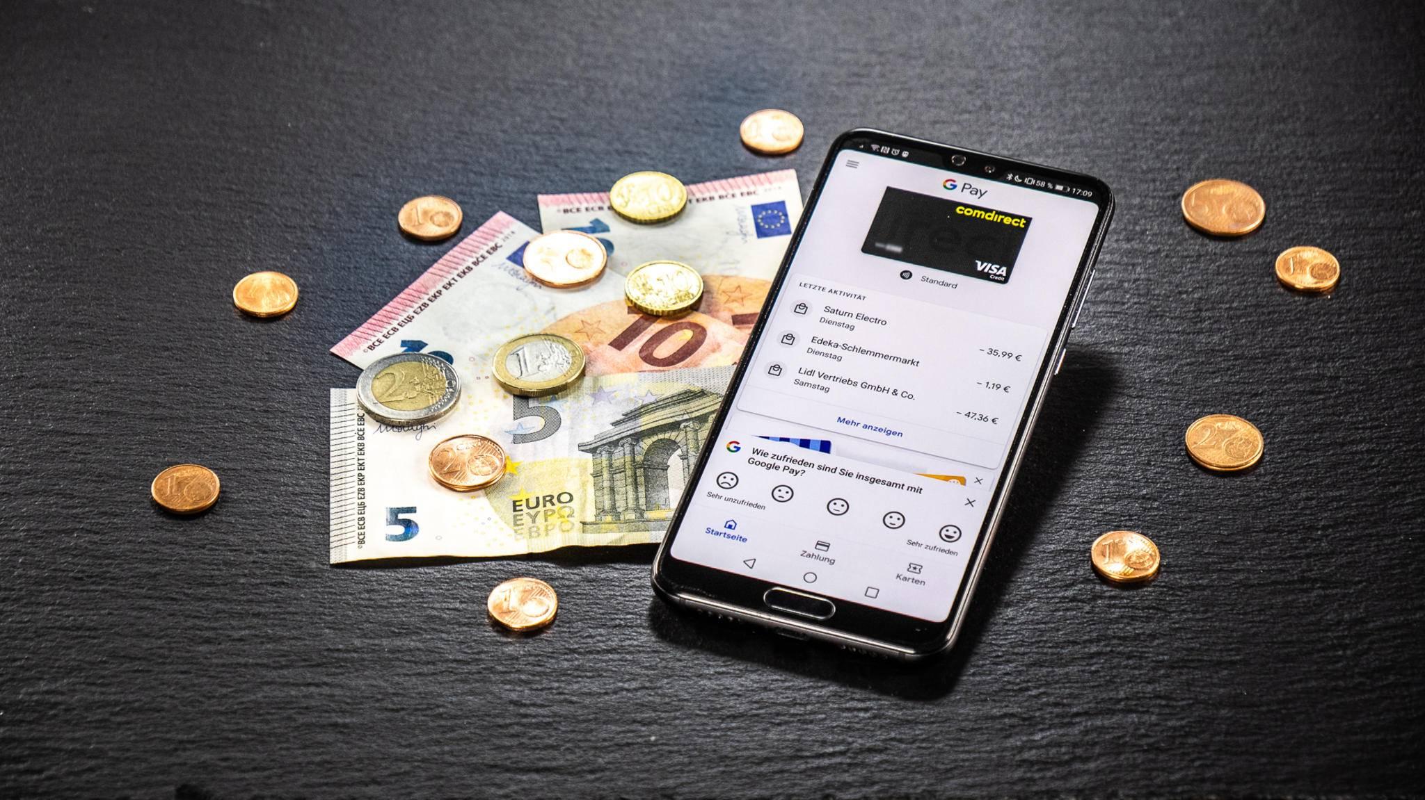 Dienste wie Google Pay könnten Bargeld bald überflüssig machen.
