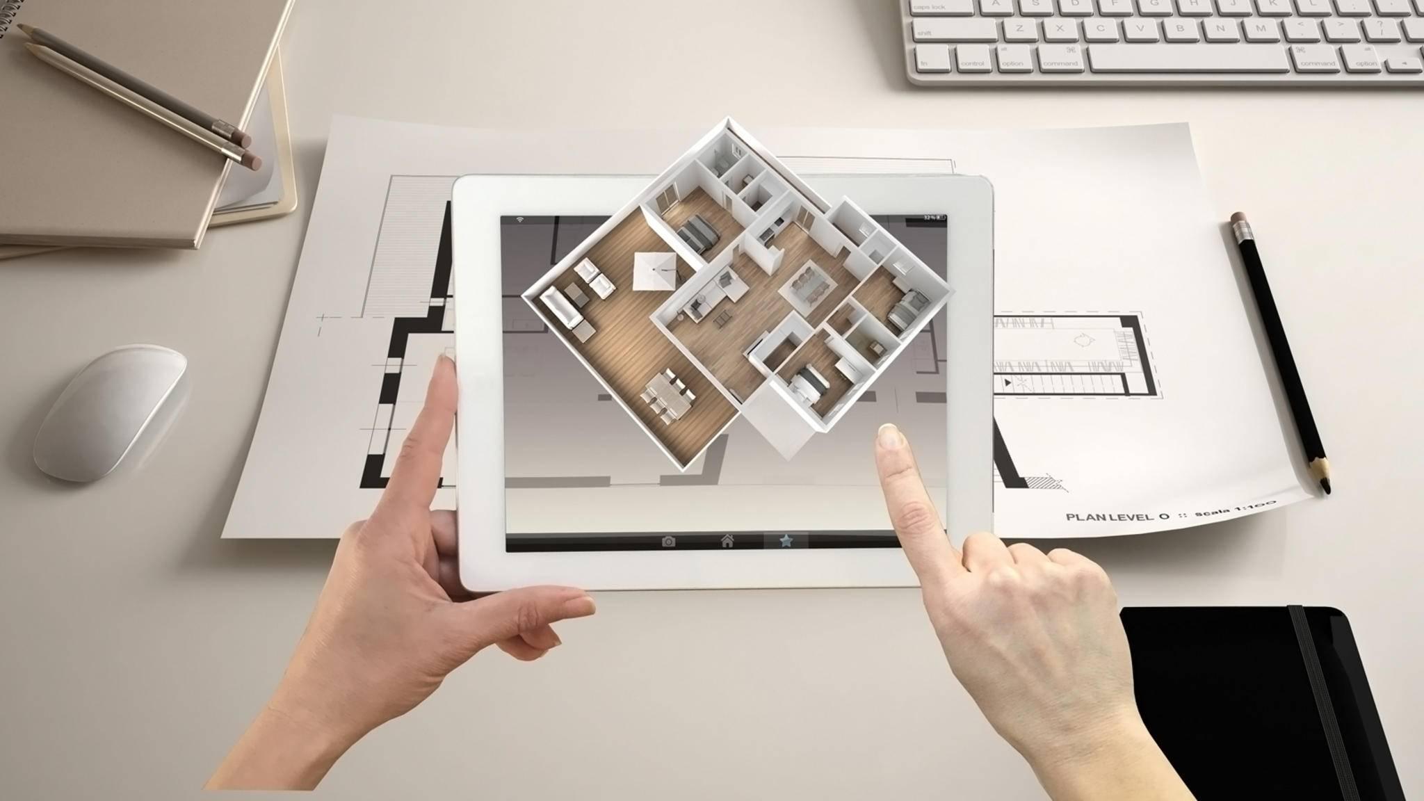 Mit der richtigen Hausbau-App kannst Du Dein künftiges Heim selbst planen.