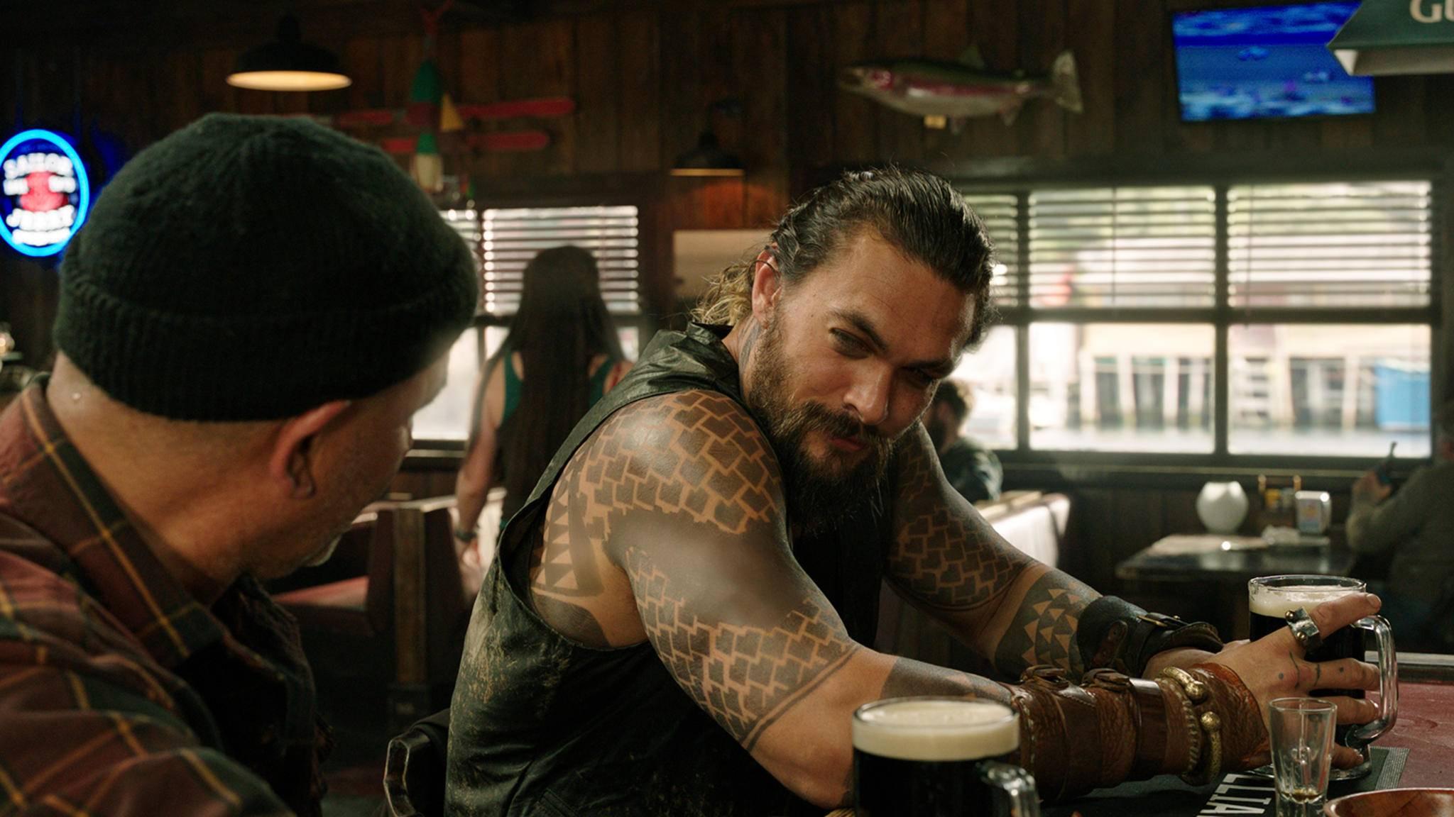 """""""Aquaman""""-Star Jason Momoa hat nur Gutes über seine DC-Kollegen zu sagen."""
