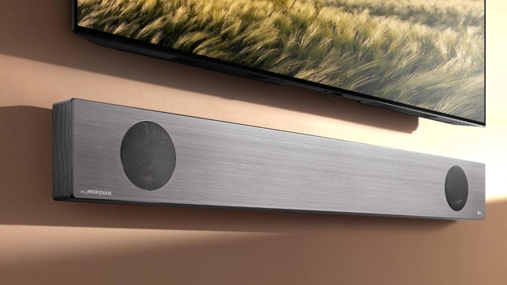 Die LG SL9YG unterstützt Dolby Atmos und DTX:X.