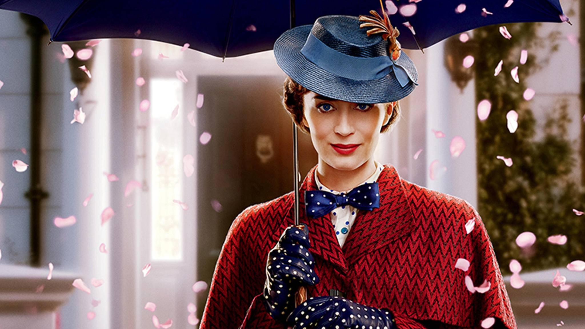 """In """"Mary Poppins' Rückkehr"""" verkörpert Emily Blunt das magische Kindermädchen."""
