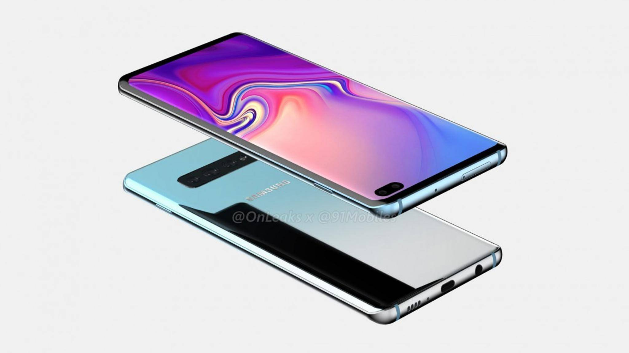 So soll das Samsung Galaxy S10 Plus aussehen.