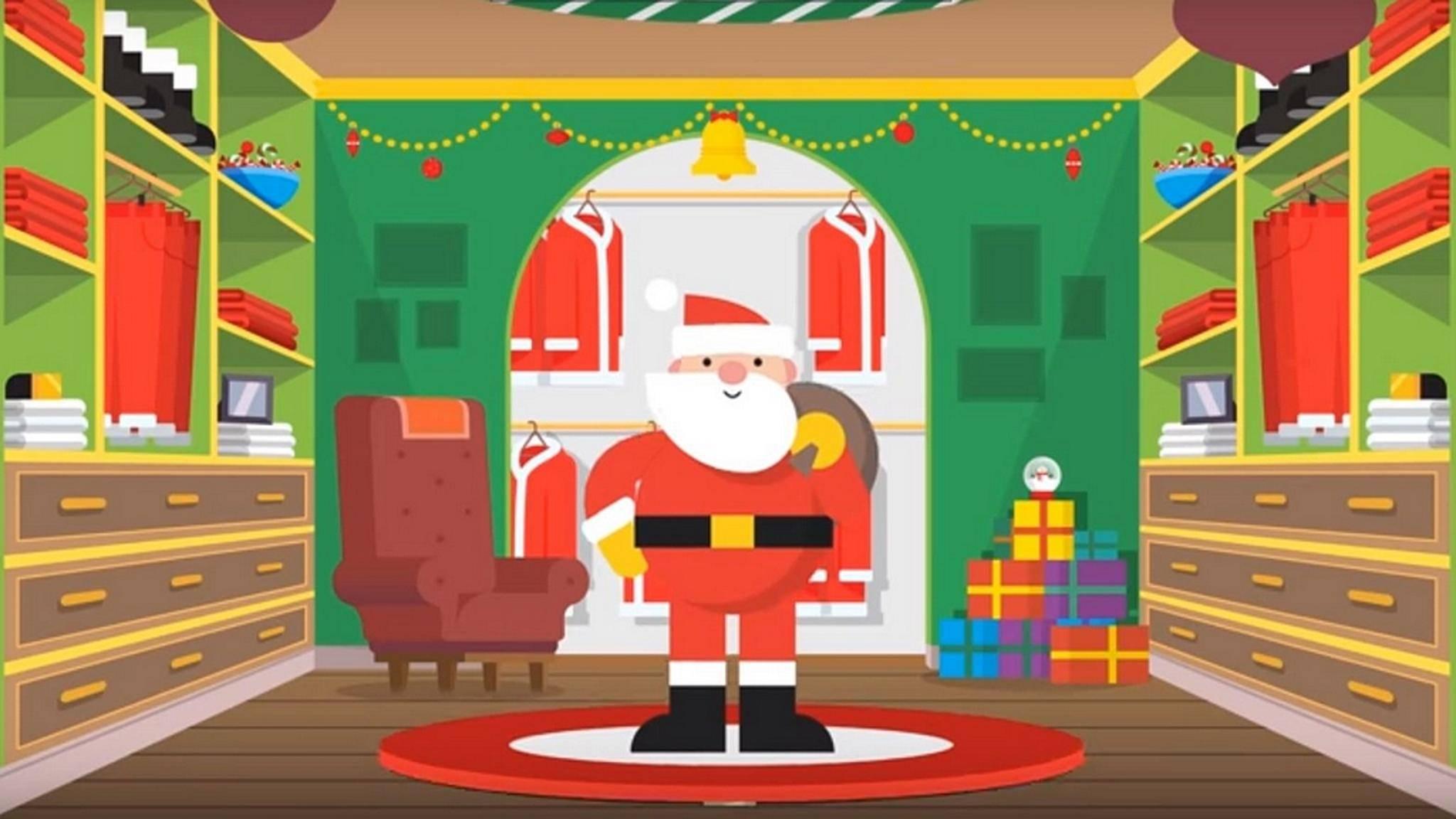 Google hat wieder seinen Santa Tracker am Start.