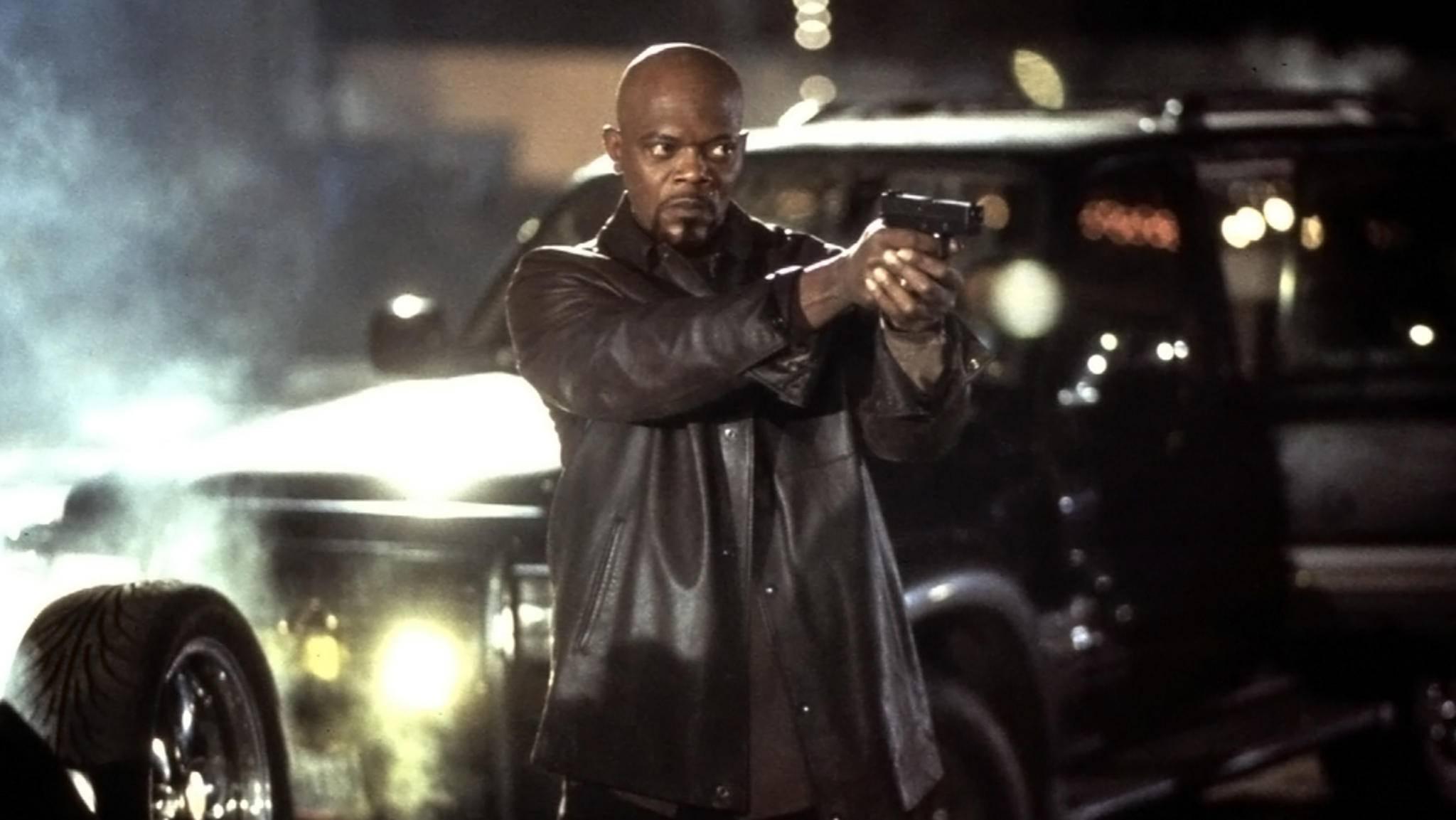 """Samuel L. Jackson schlüpft im neuen """"Shaft""""-Sequel einmal mehr in die coole Lederkluft."""