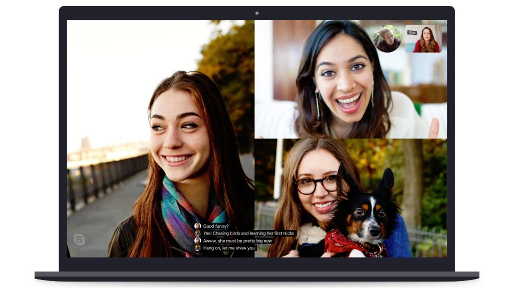 Skype erhält Echtzeit-Untertitel.